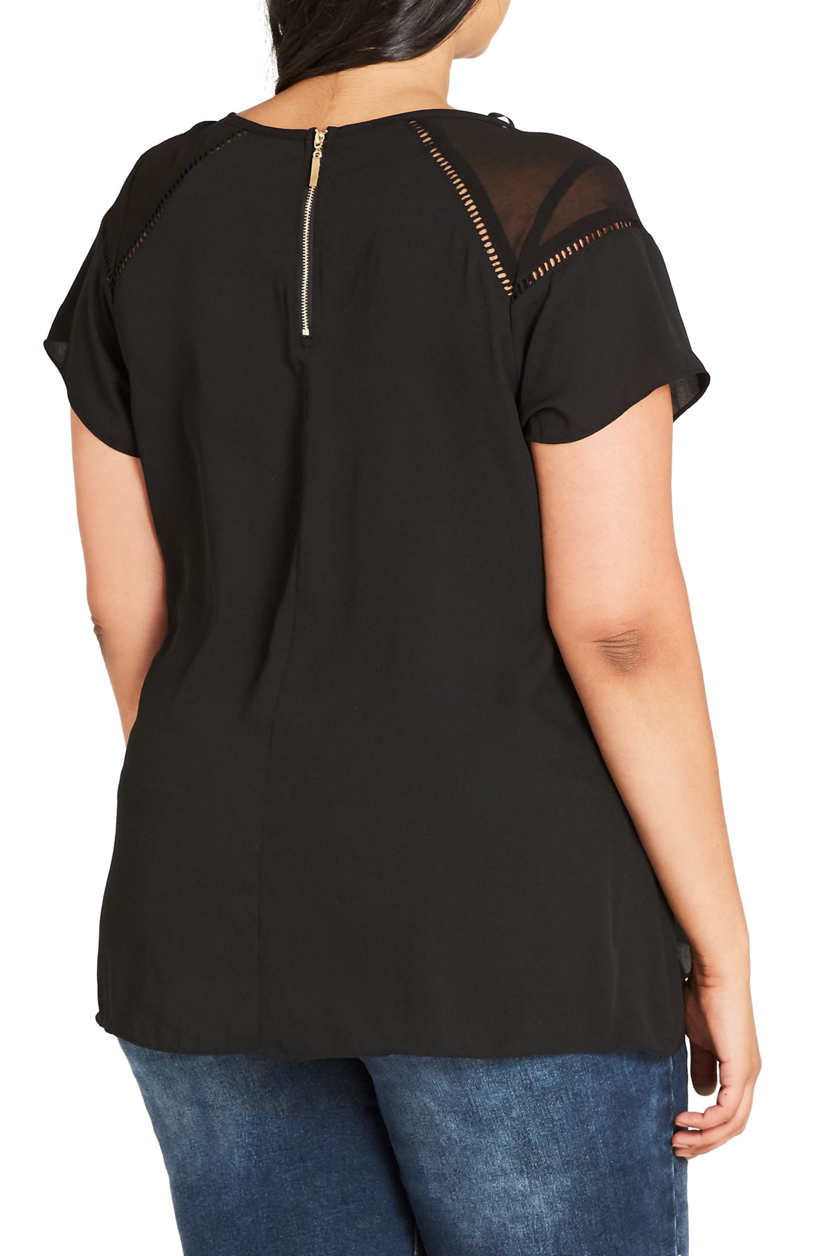 Alternate Image 2  - City Chic Night Out Top (Plus Size)