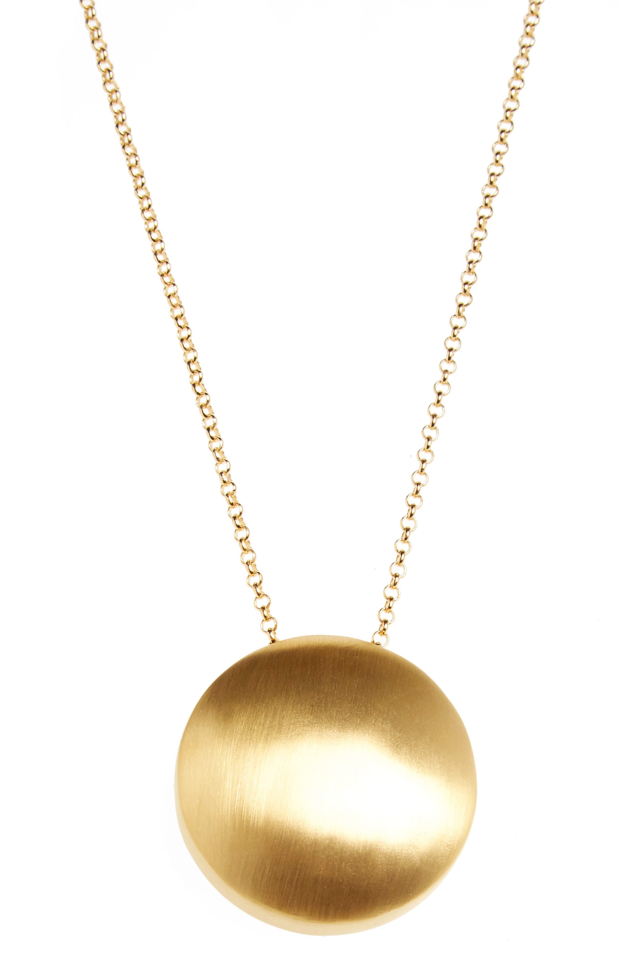 Sphere Pendant Necklace,                             Alternate thumbnail 2, color,                             Gold