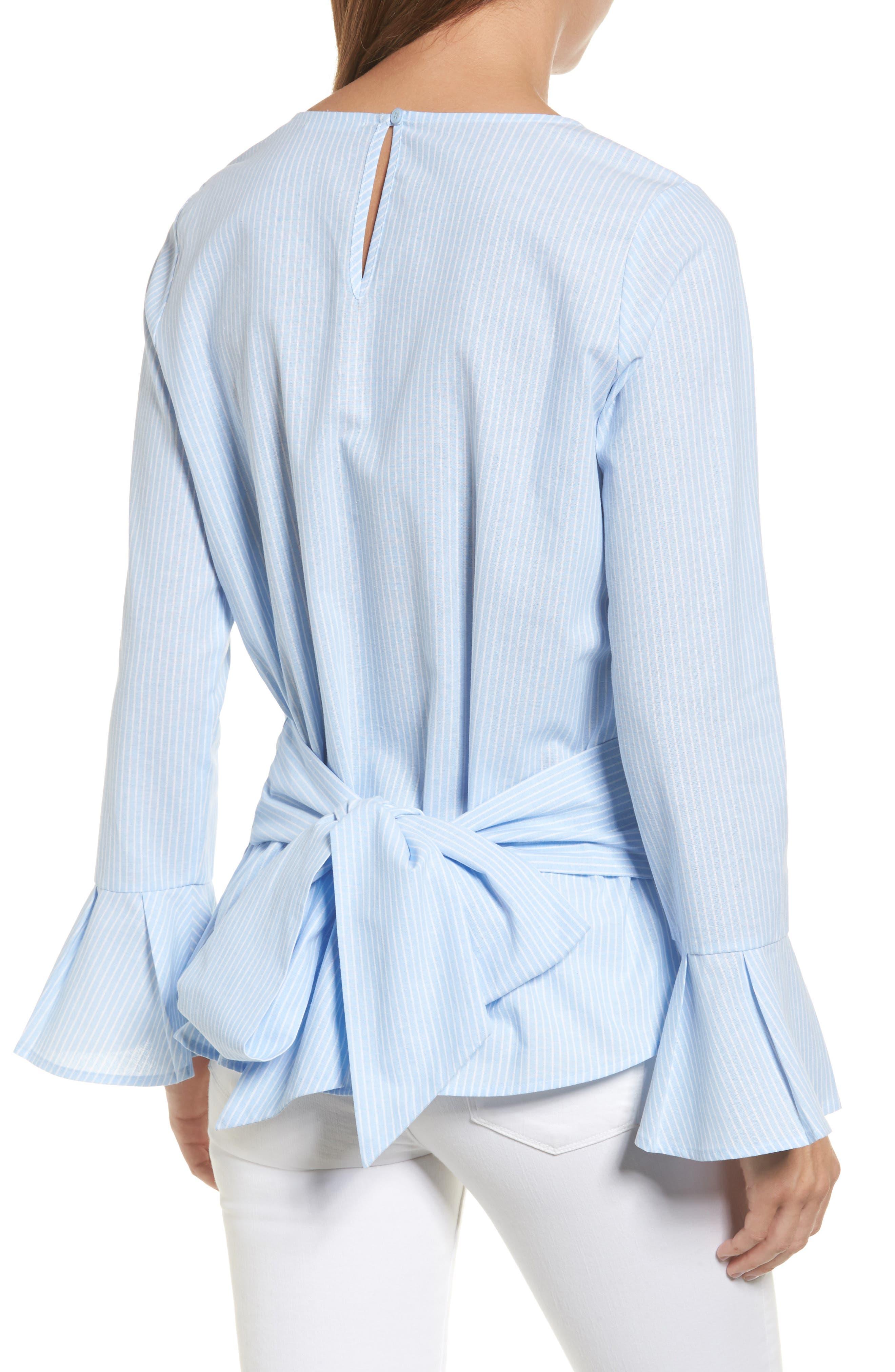 Main Image - Pleione Tie Back Wrap Blouse