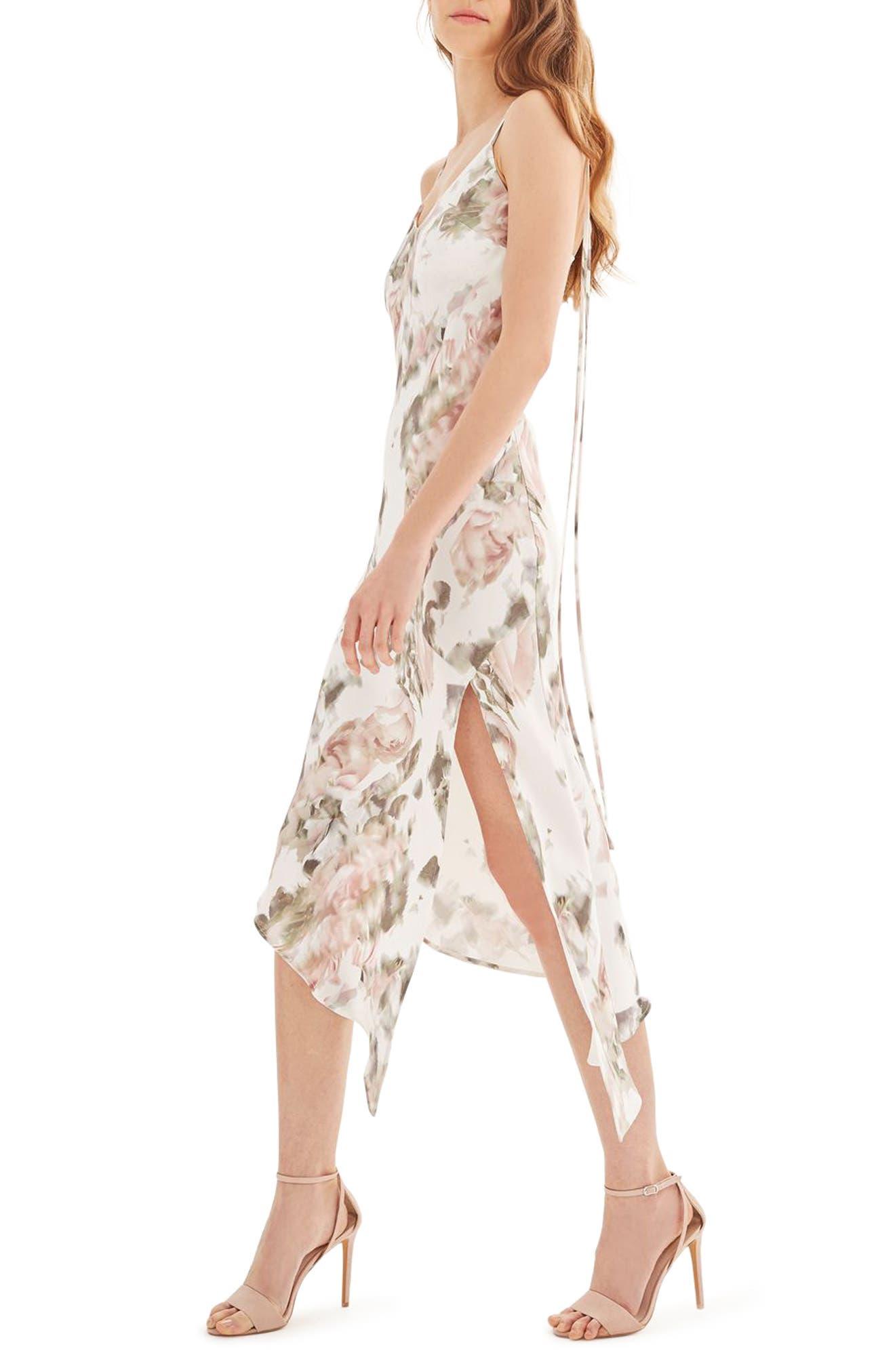Alternate Image 4  - Topshop Bride Asymmetrical Slipdress
