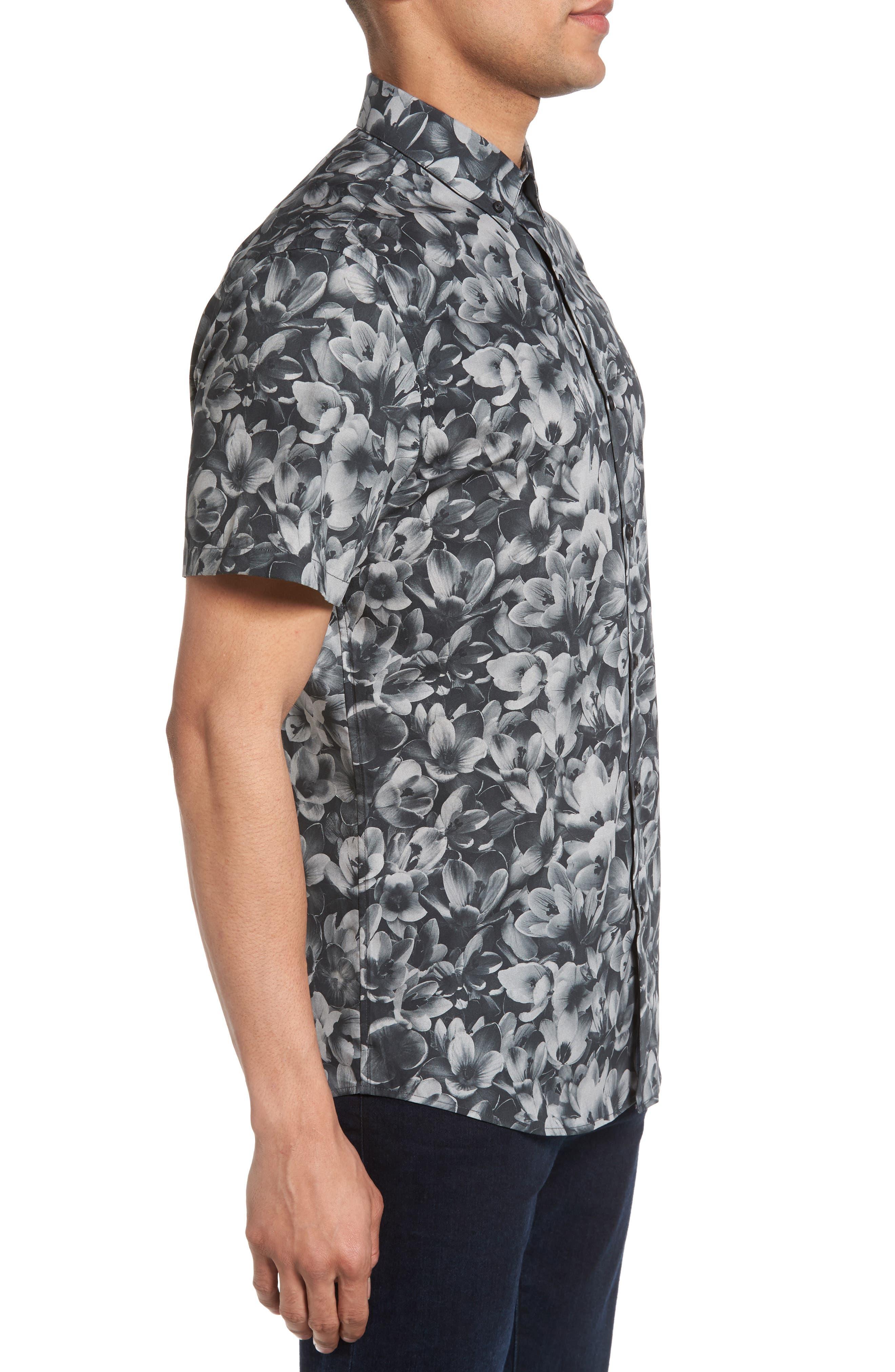 Alternate Image 3  - Calibrate Trim Fit Non-Iron Print Sport Shirt