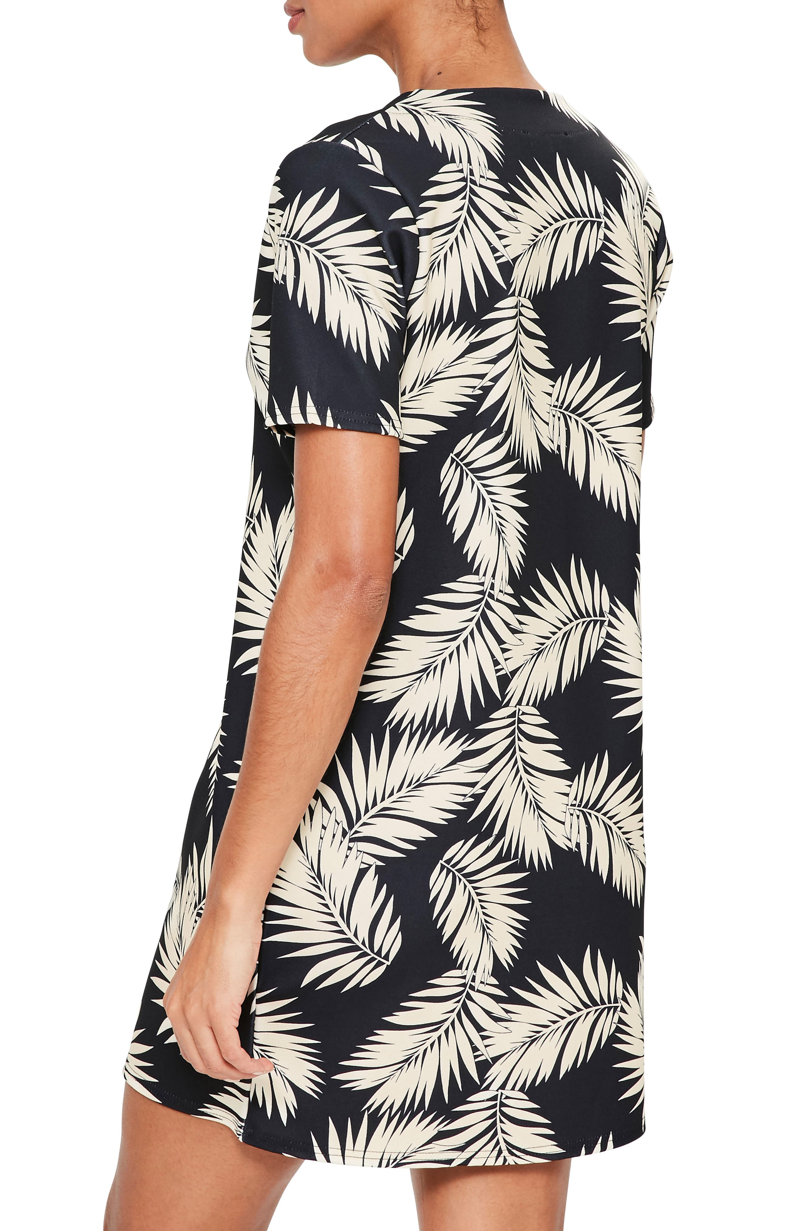 Alternate Image 3  - Missguided Print Plunge T-Shirt Dress