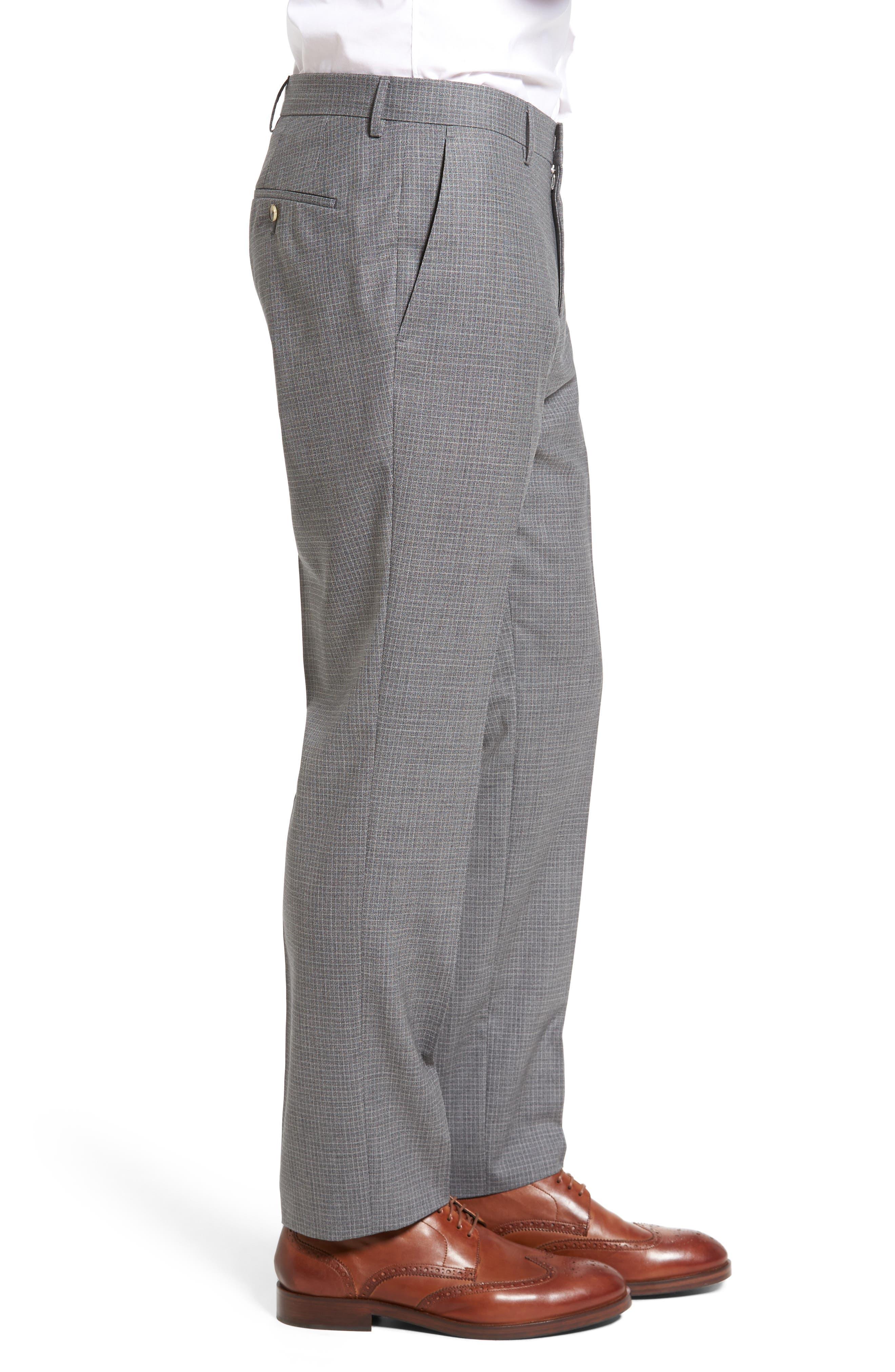 Alternate Image 3  - BOSS Genesis Flat Front Check Wool Trousers