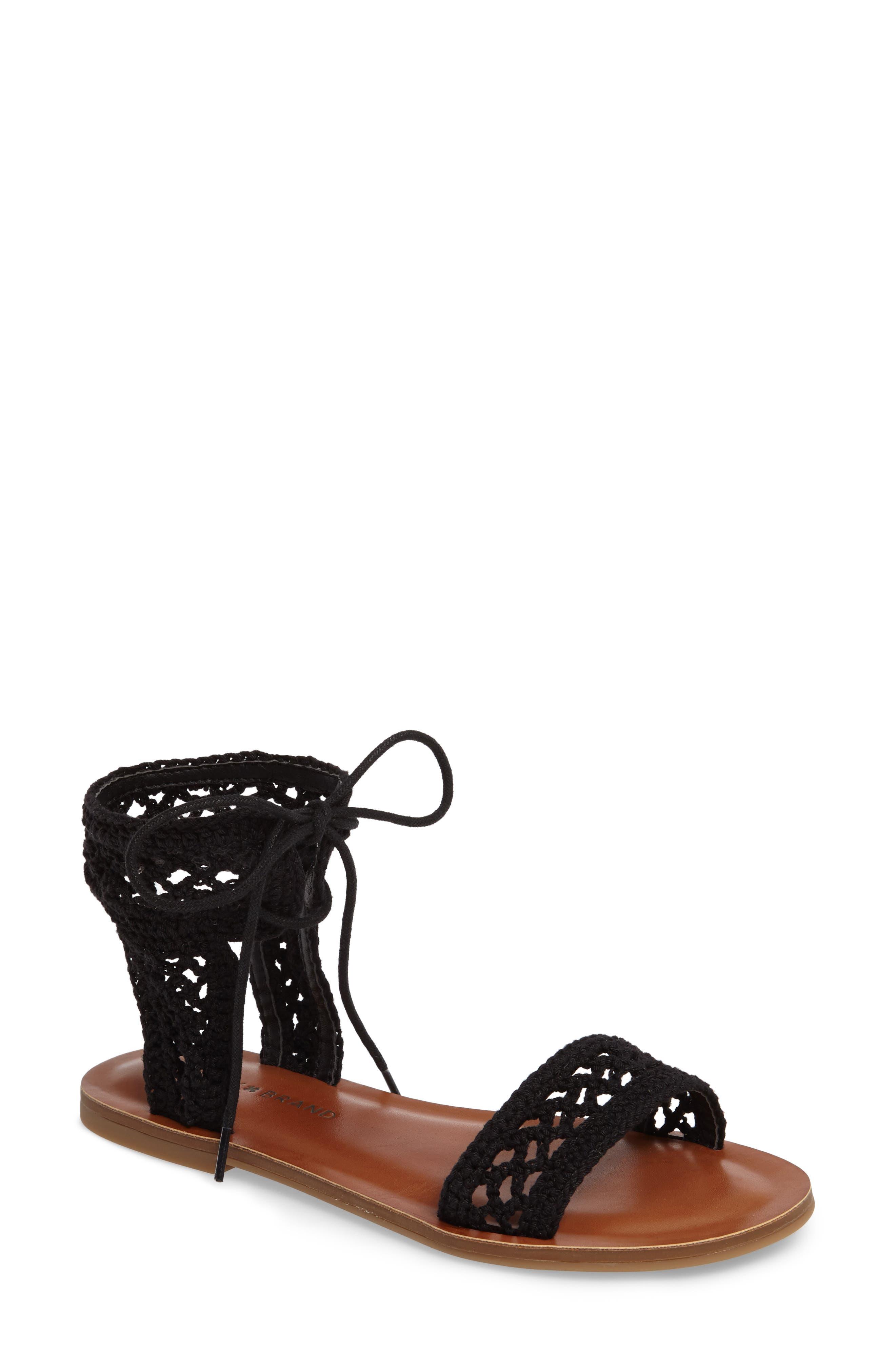 Main Image - Lucky Brand Ariah Ankle Tie Sandal (Women)