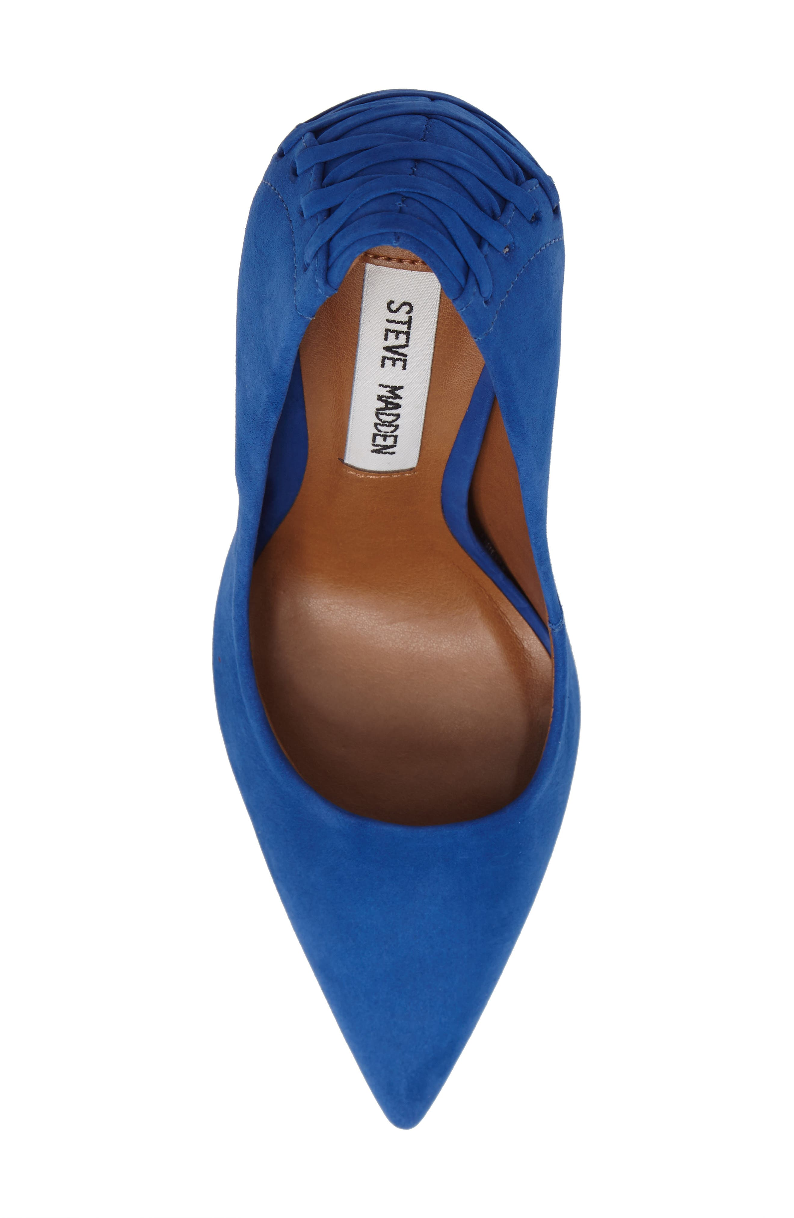 Paiton Laced Heel Pump,                             Alternate thumbnail 5, color,                             Blue Nubuck