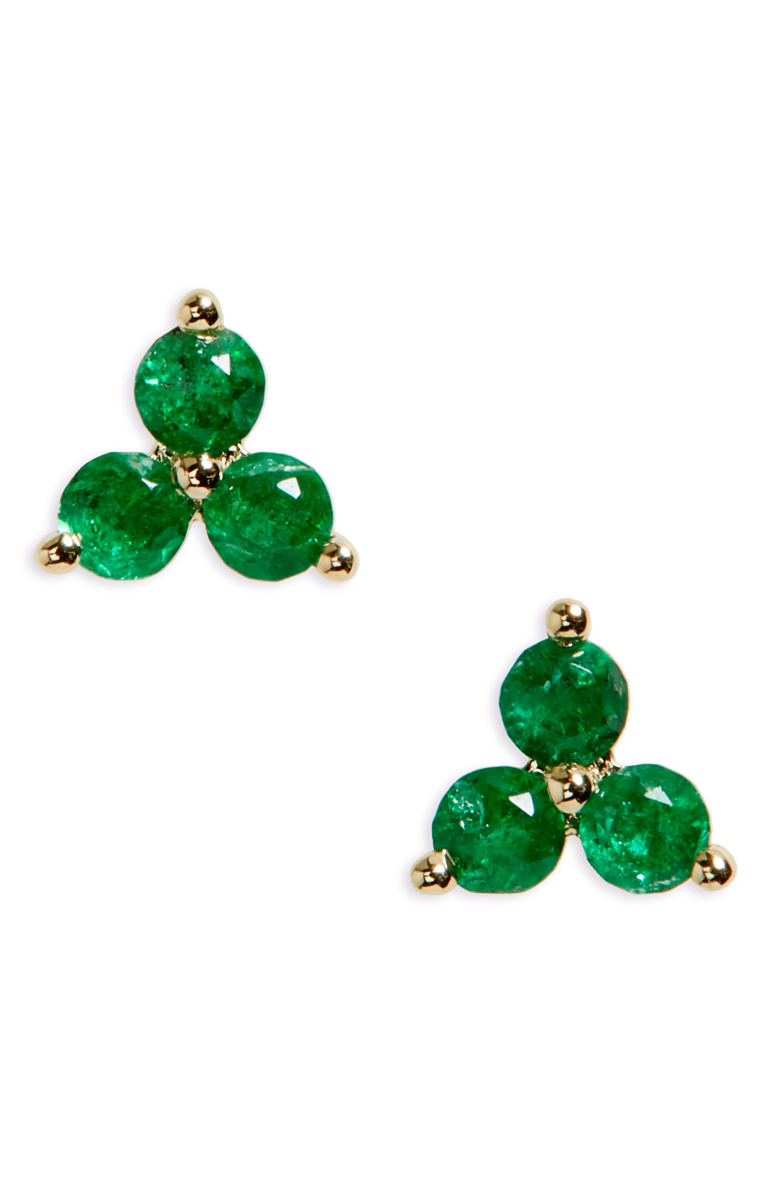 Main Image - EF COLLECTION Gem Trio Stud Earrings