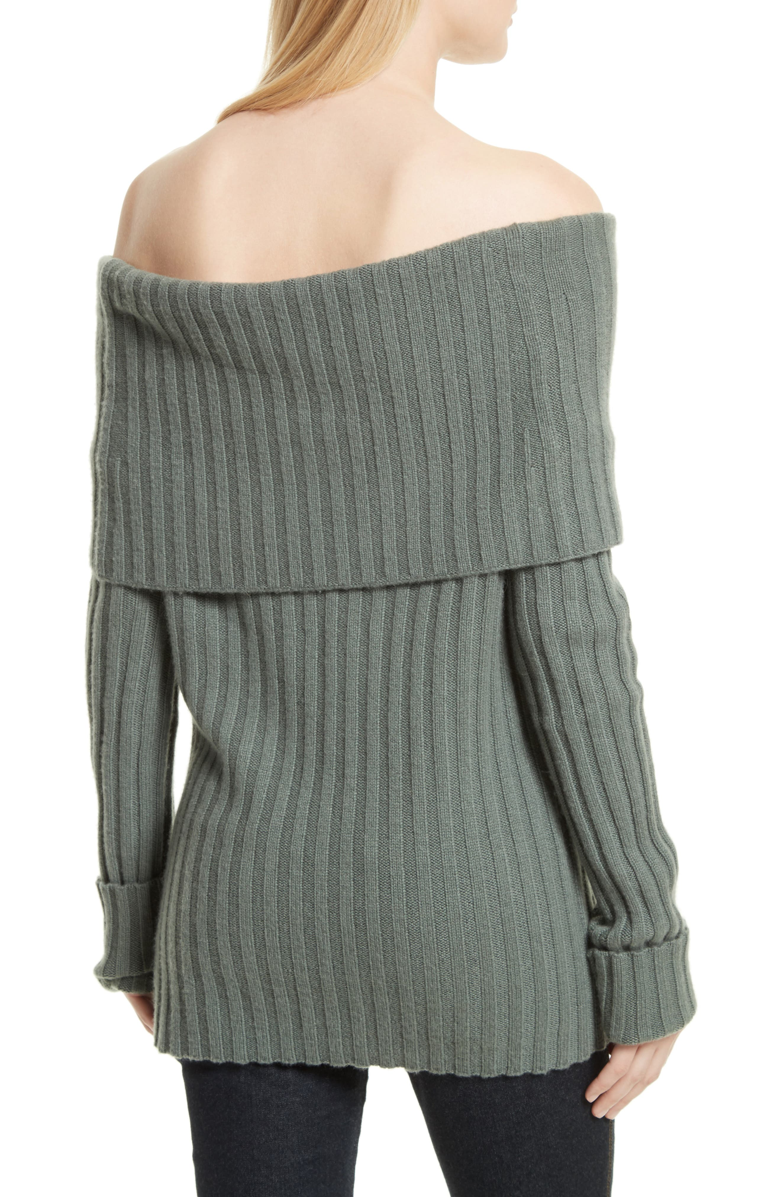 Alternate Image 2  - Theory Off the Shoulder Cashmere Sweater