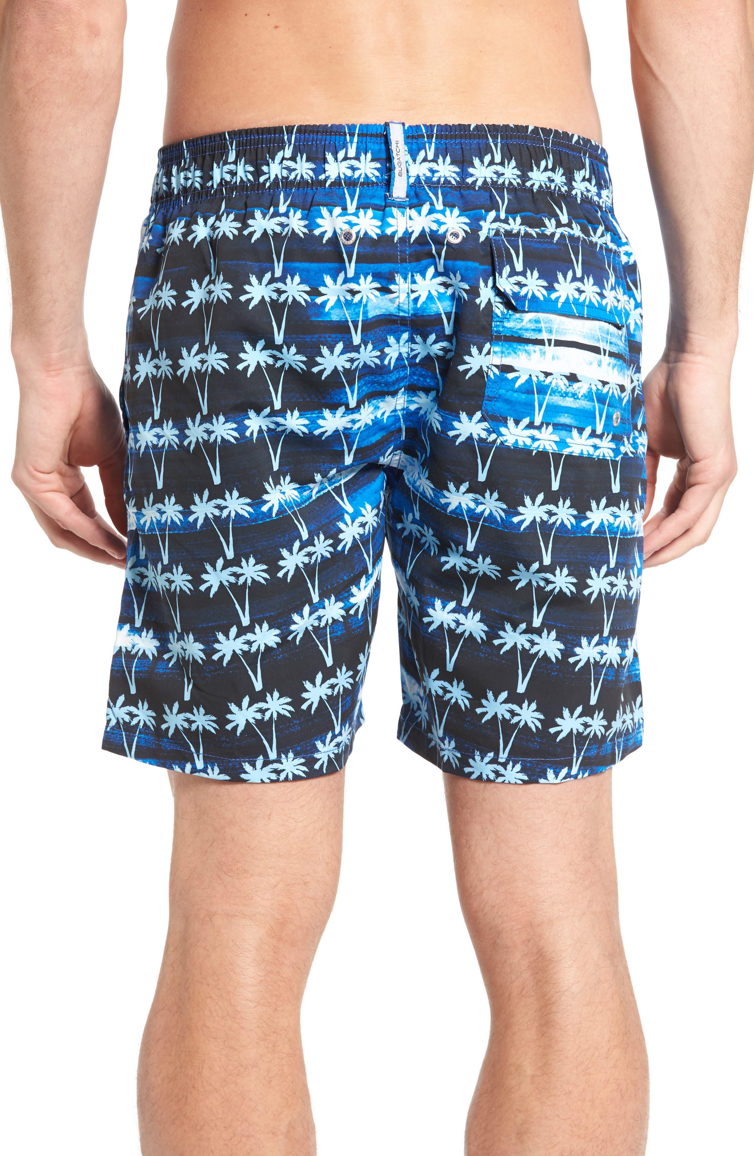 Alternate Image 2  - Bugatchi Print Swim Trunks