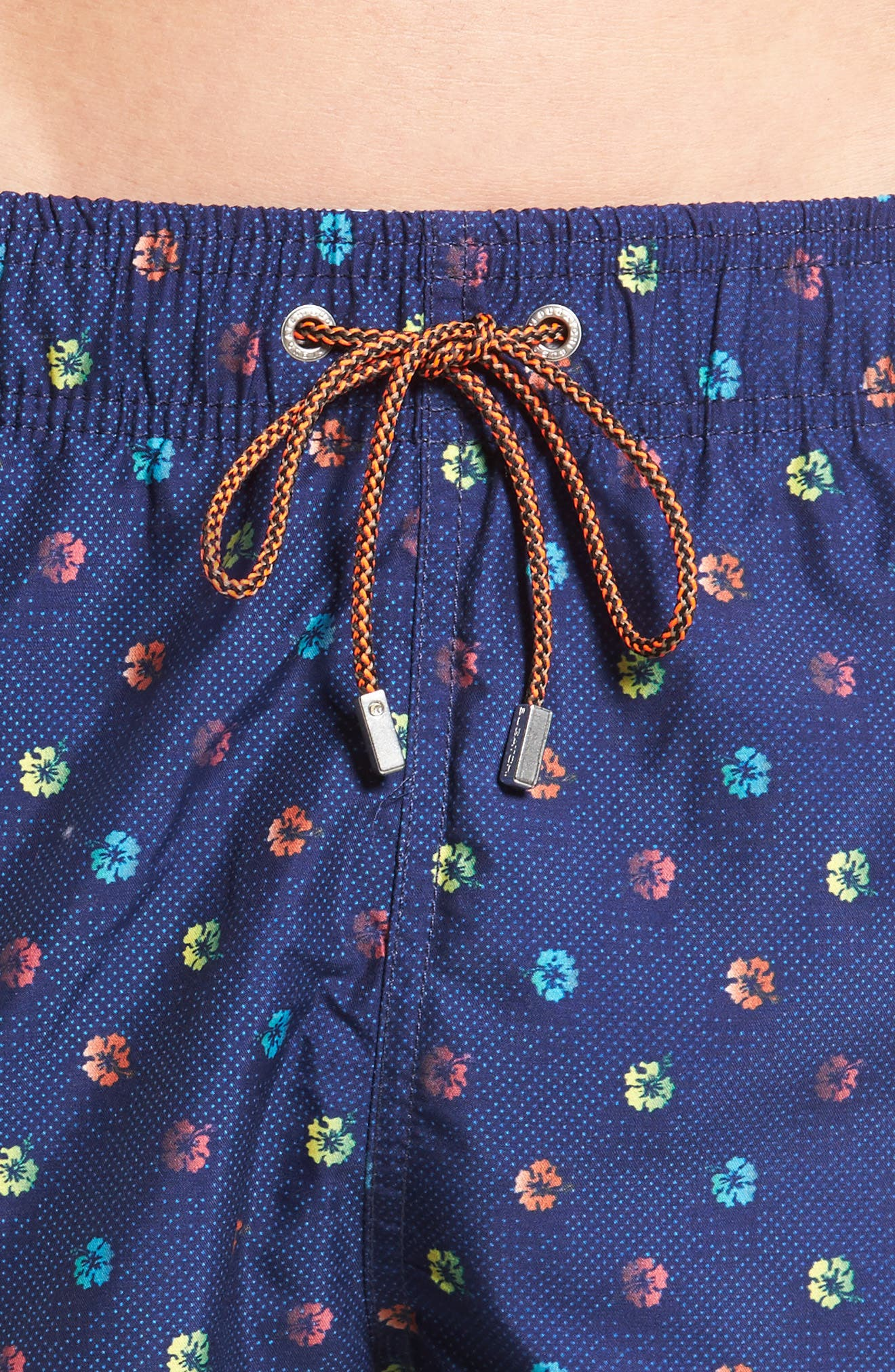 Alternate Image 4  - Bugatchi Print Swim Trunks