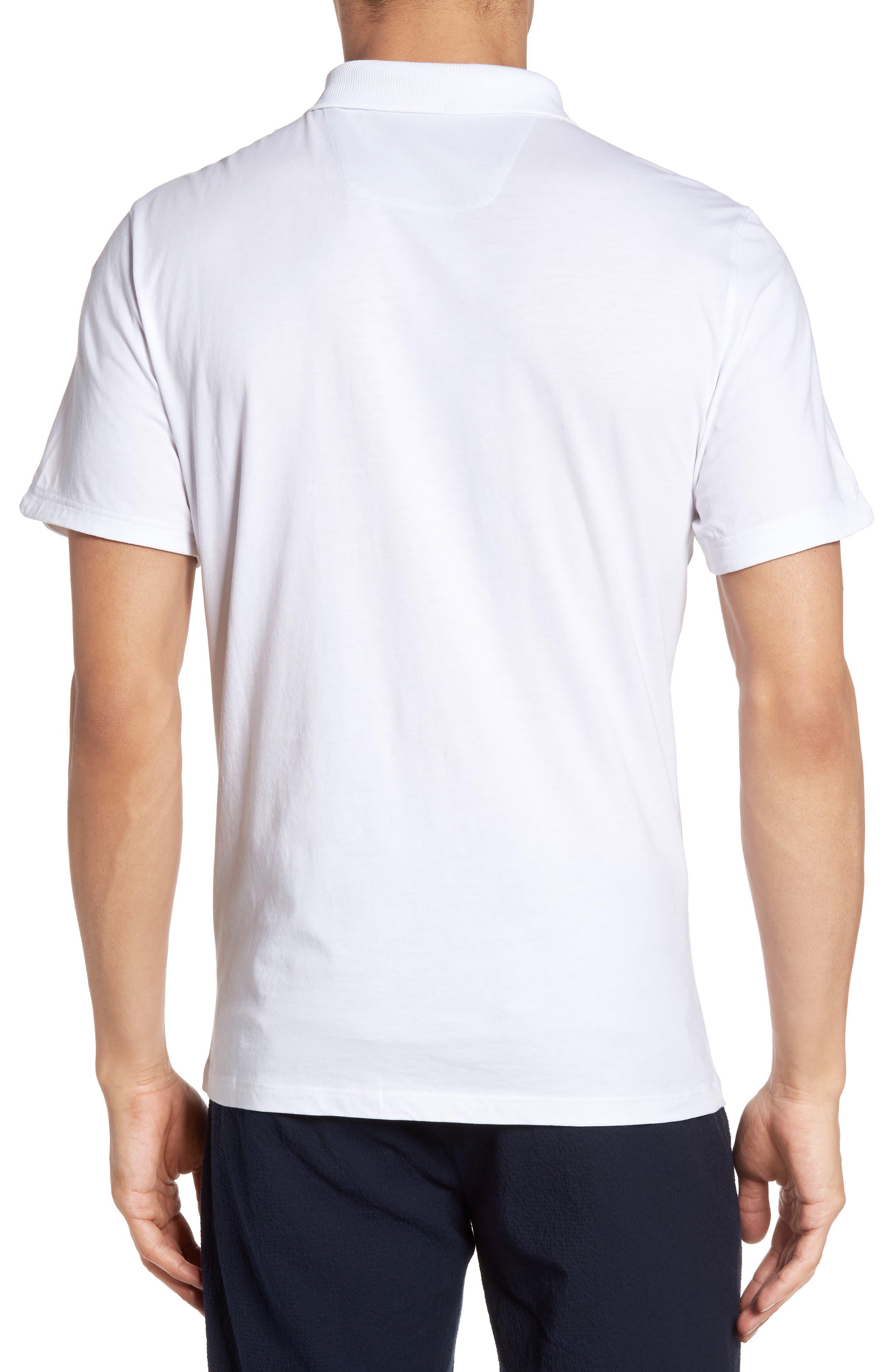 Libani Zip Polo,                             Alternate thumbnail 2, color,                             White