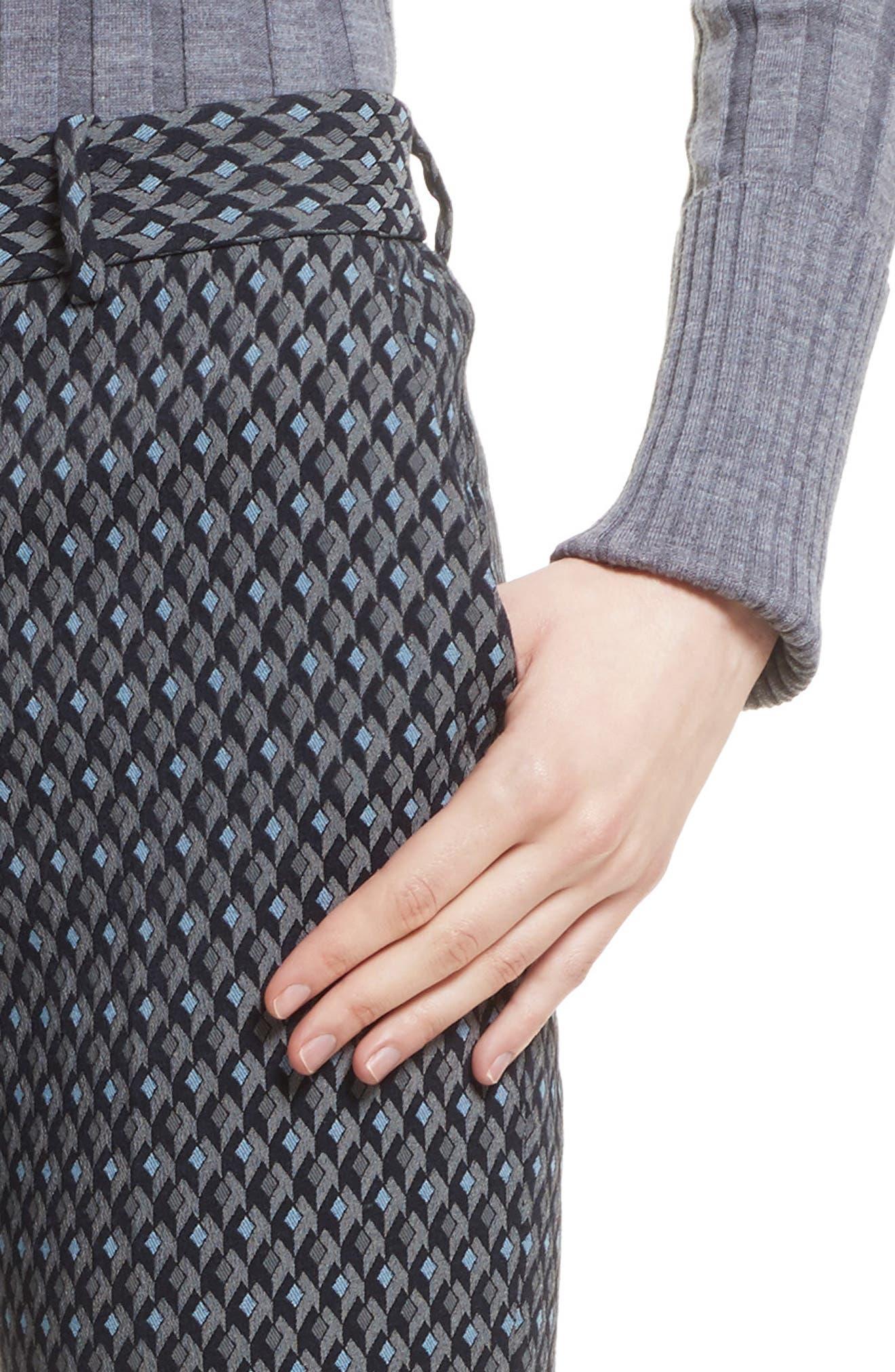 Alternate Image 4  - Theory Treeca 2 Geo Jacquard Stretch Crop Pants