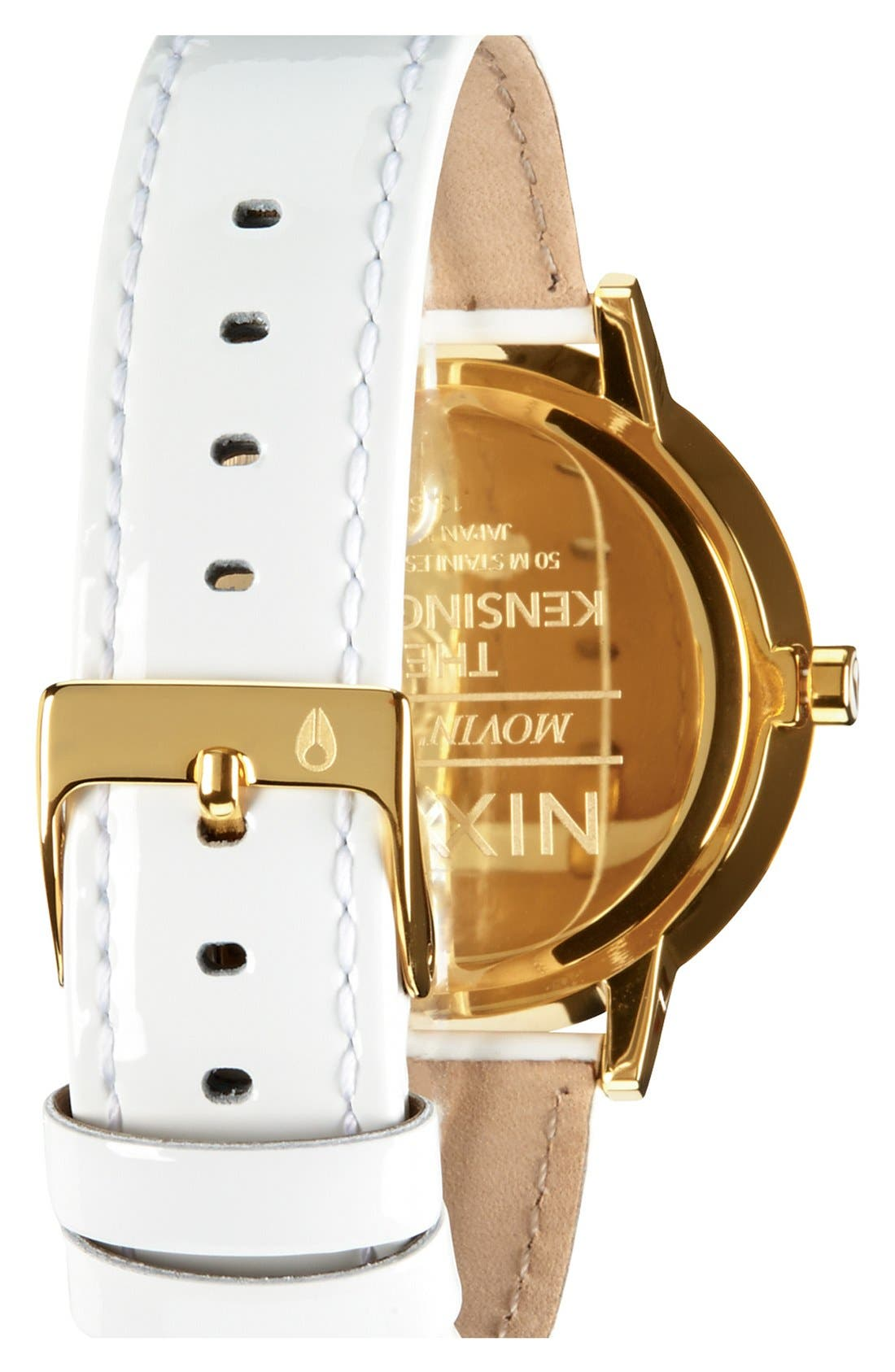 Alternate Image 2  - Nixon 'The Kensington' Patent Leather Strap Watch, 37mm
