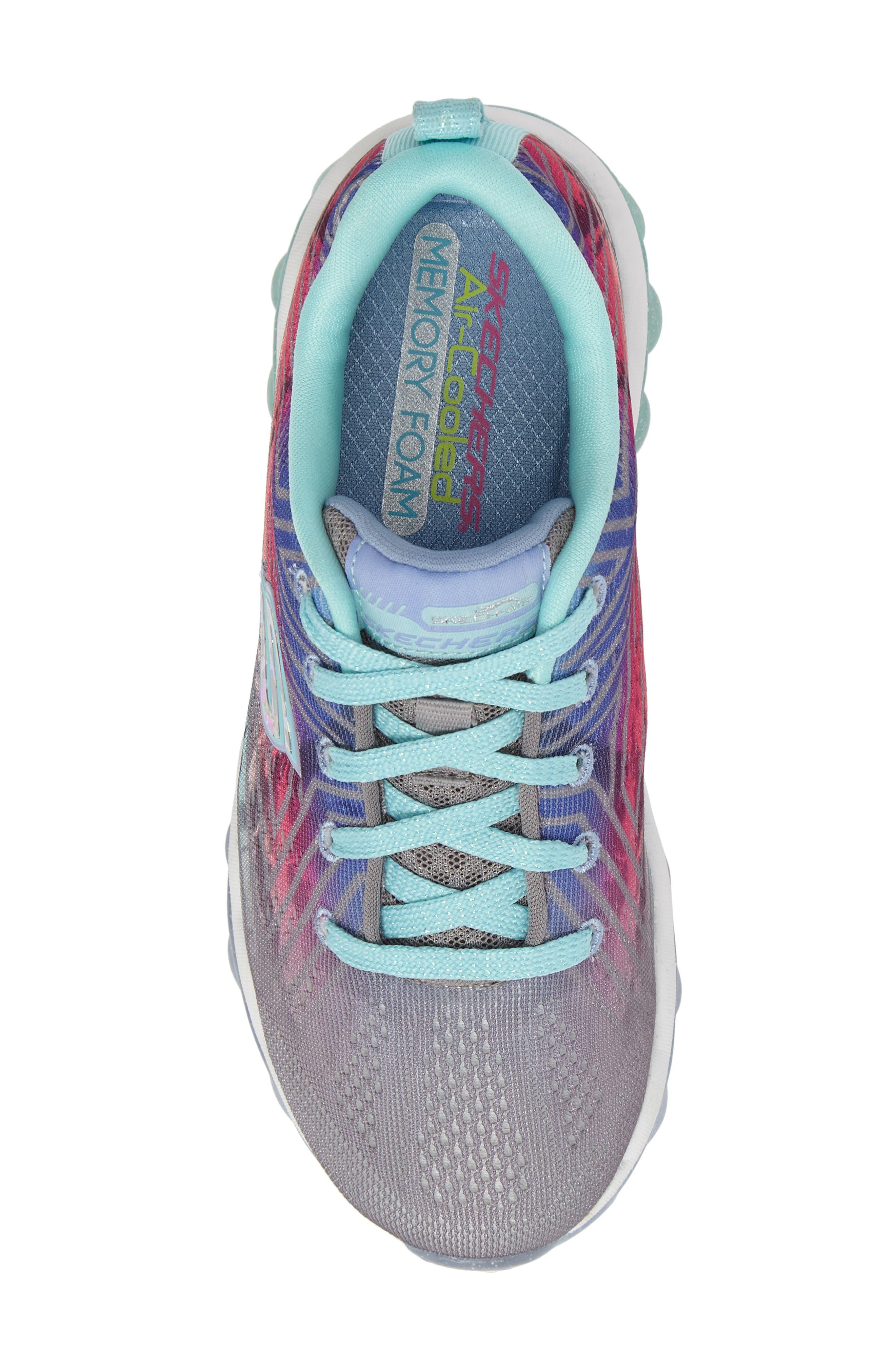 Skech-Air Jump Around Sneaker,                             Alternate thumbnail 5, color,                             Grey/ Multi