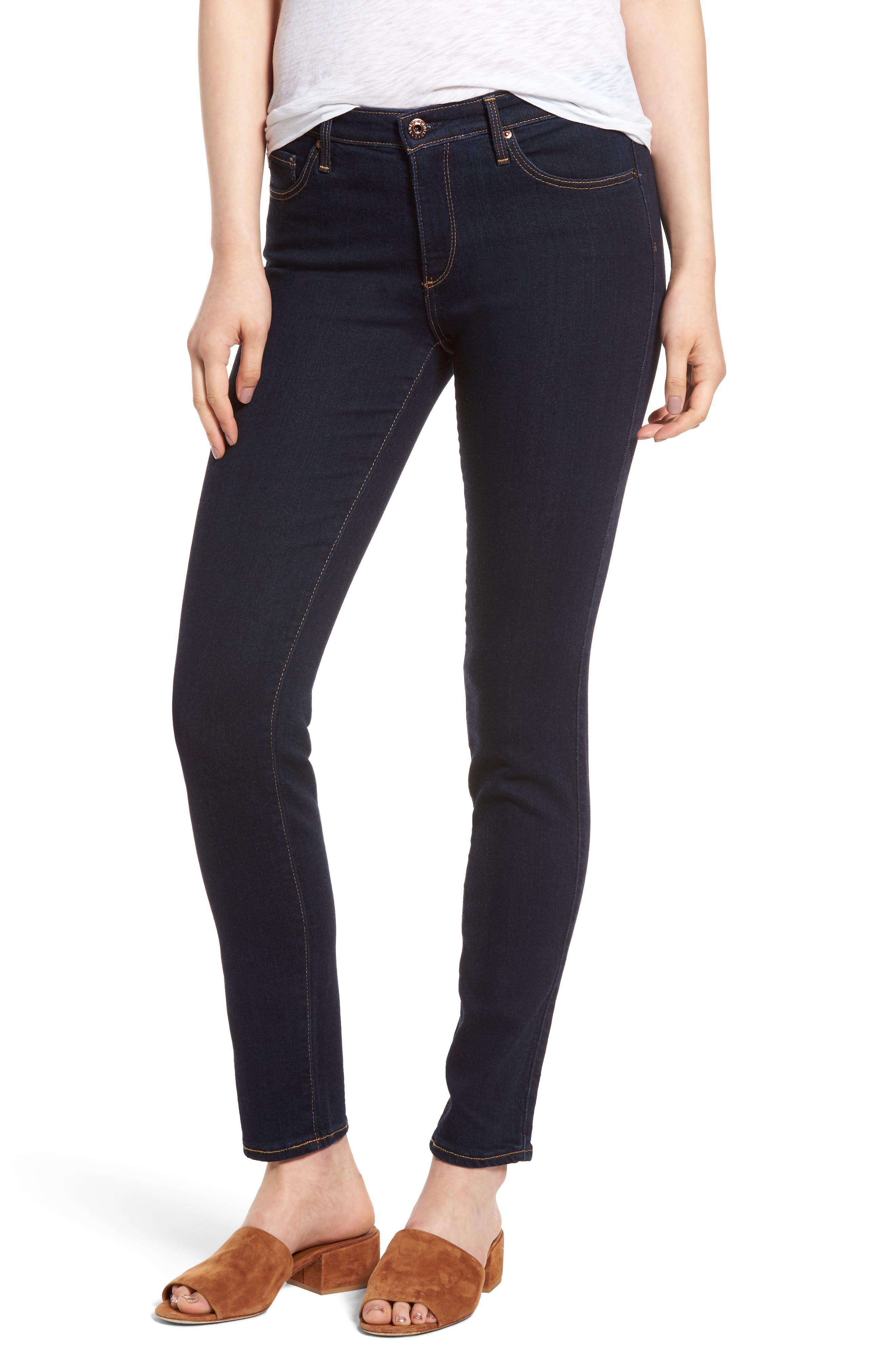 AG 'Prima' Mid Rise Skinny Jeans (Delight Wash)