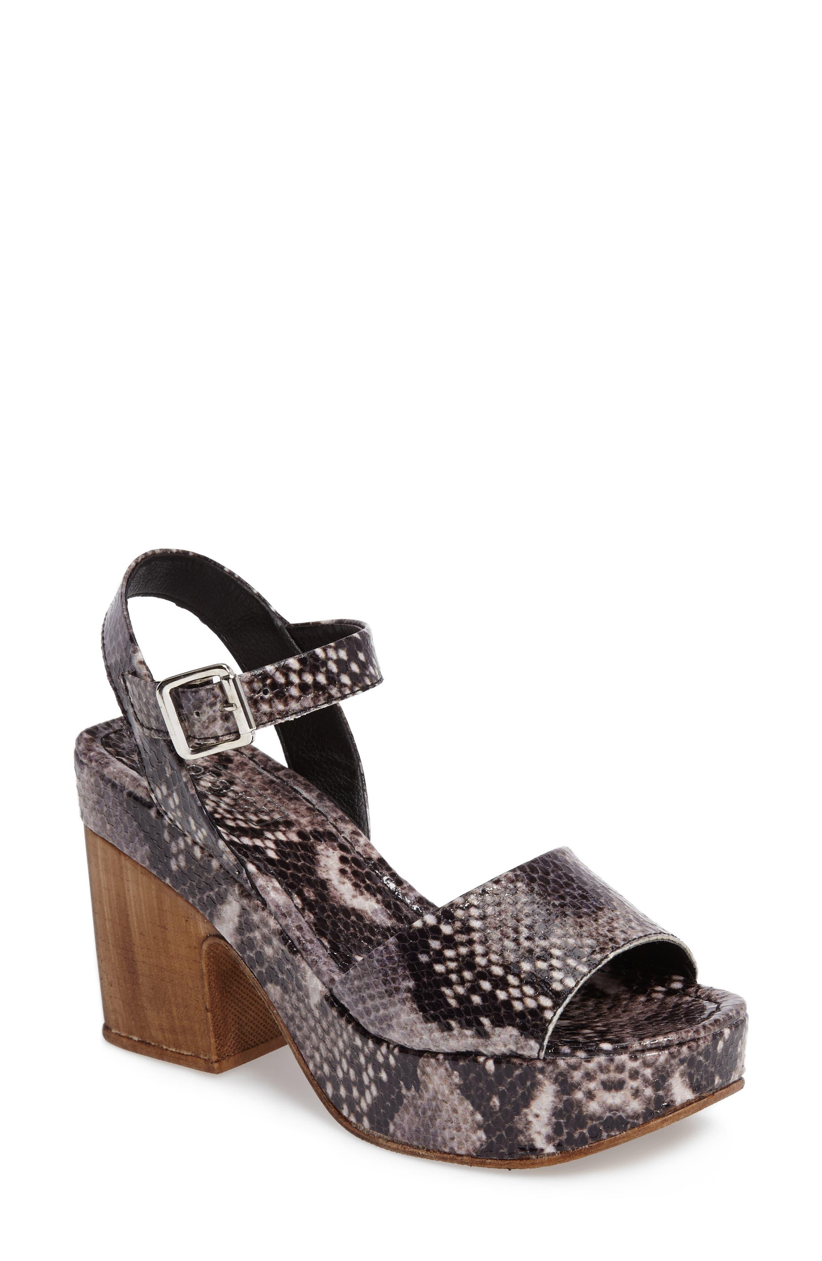 Violets Platform Sandals,                         Main,                         color, Grey Multi