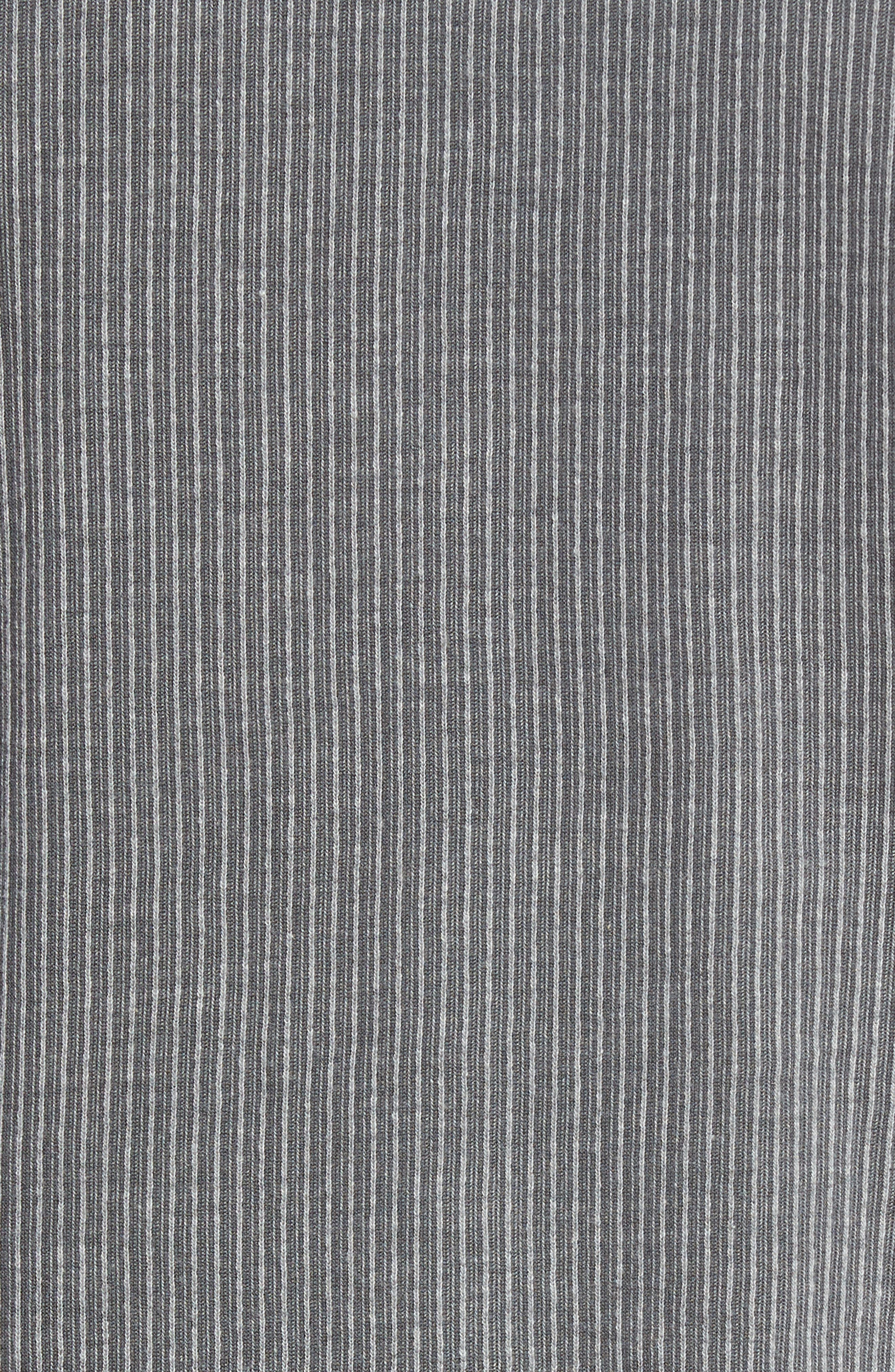 Stripe Henley,                             Alternate thumbnail 5, color,                             Dark Grey