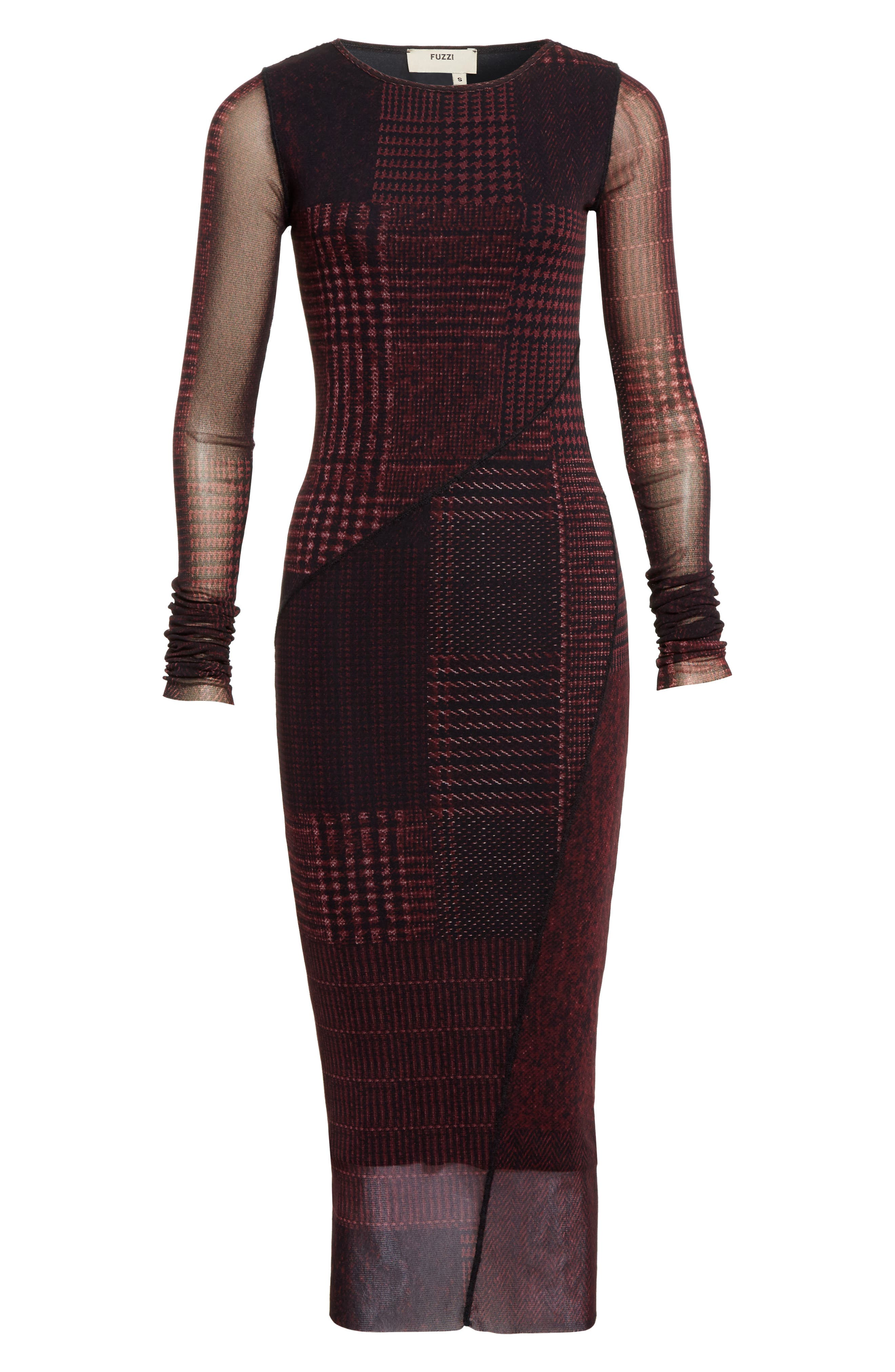 Alternate Image 4  - Fuzzi Long Sleeve Tulle Midi Dress