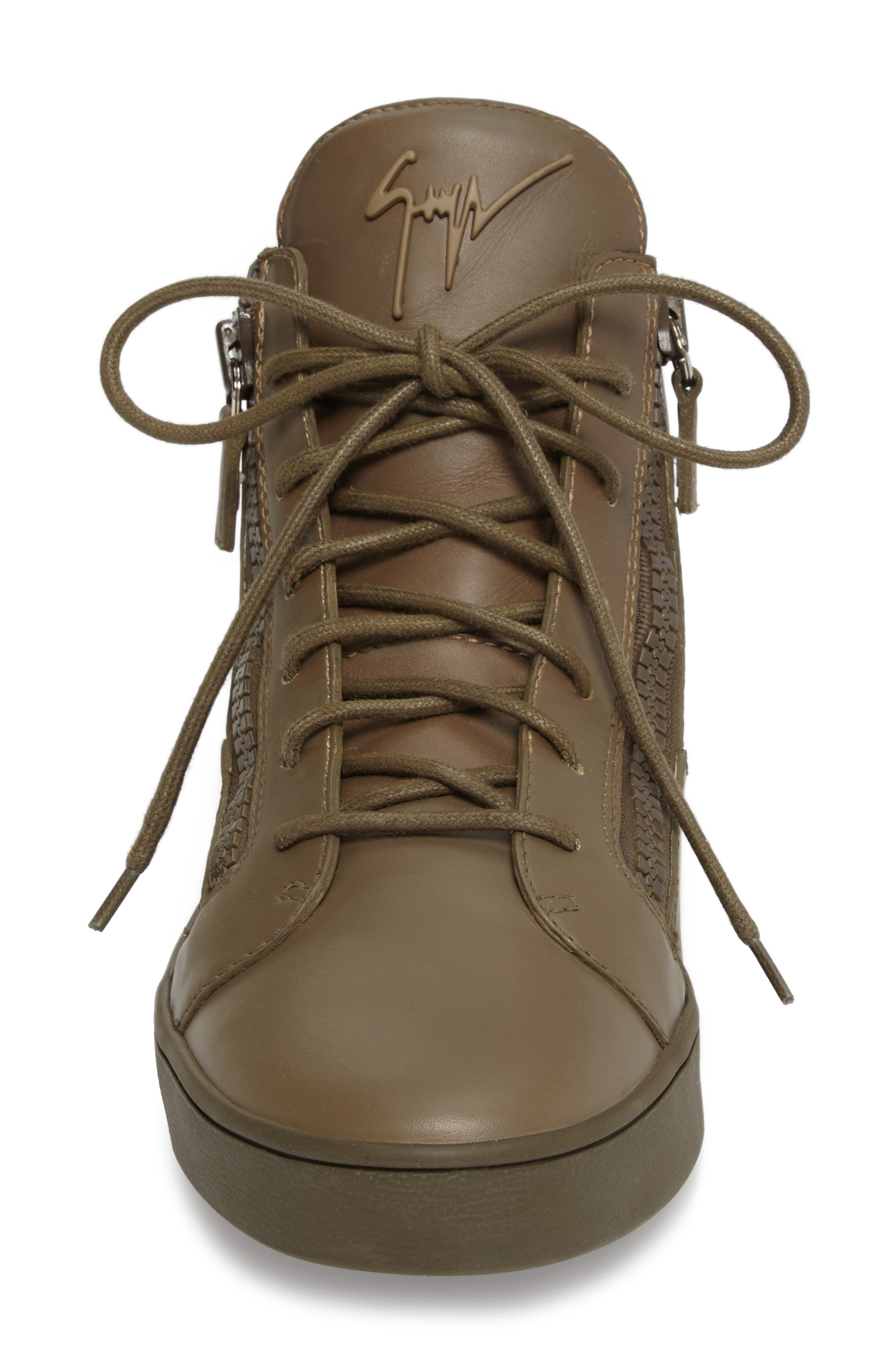 Alternate Image 4  - Giuseppe Zanotti Mid Top Sneaker (Men)