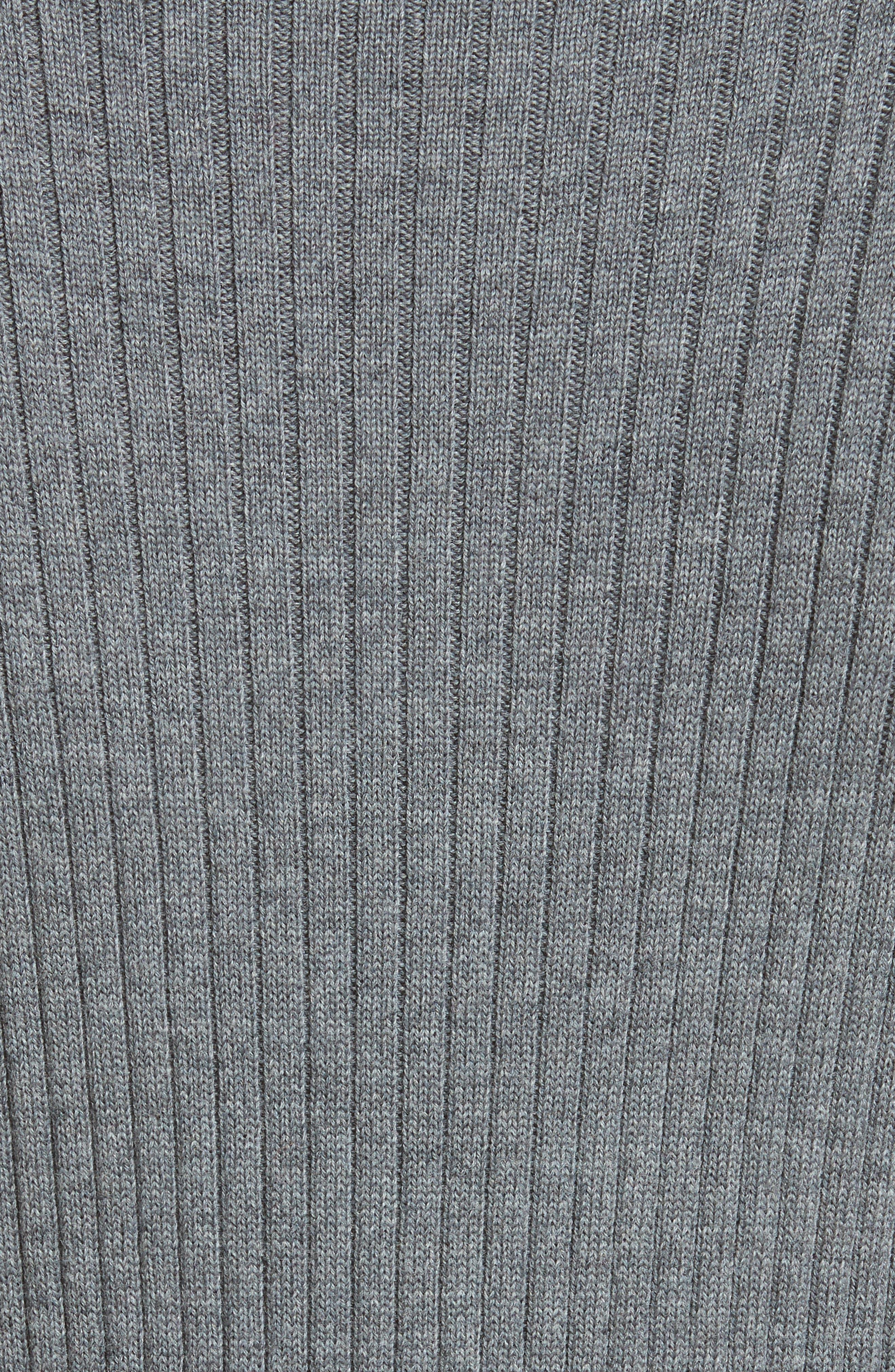 Asymmetrical Rib Knit Top,                             Alternate thumbnail 6, color,                             Flint Melange