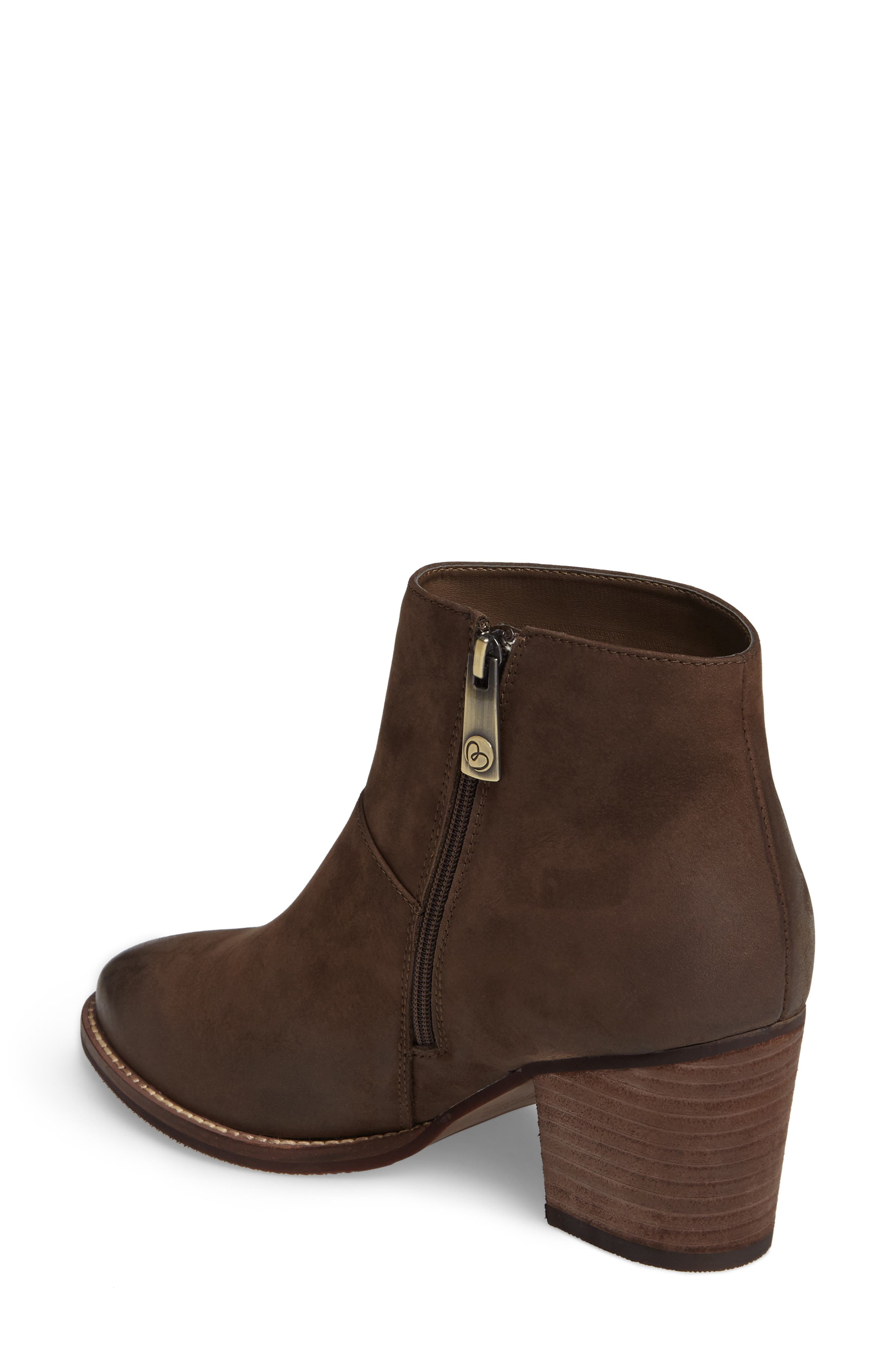 Nelli Waterproof Bootie,                             Alternate thumbnail 2, color,                             Taupe Nubuck Leather