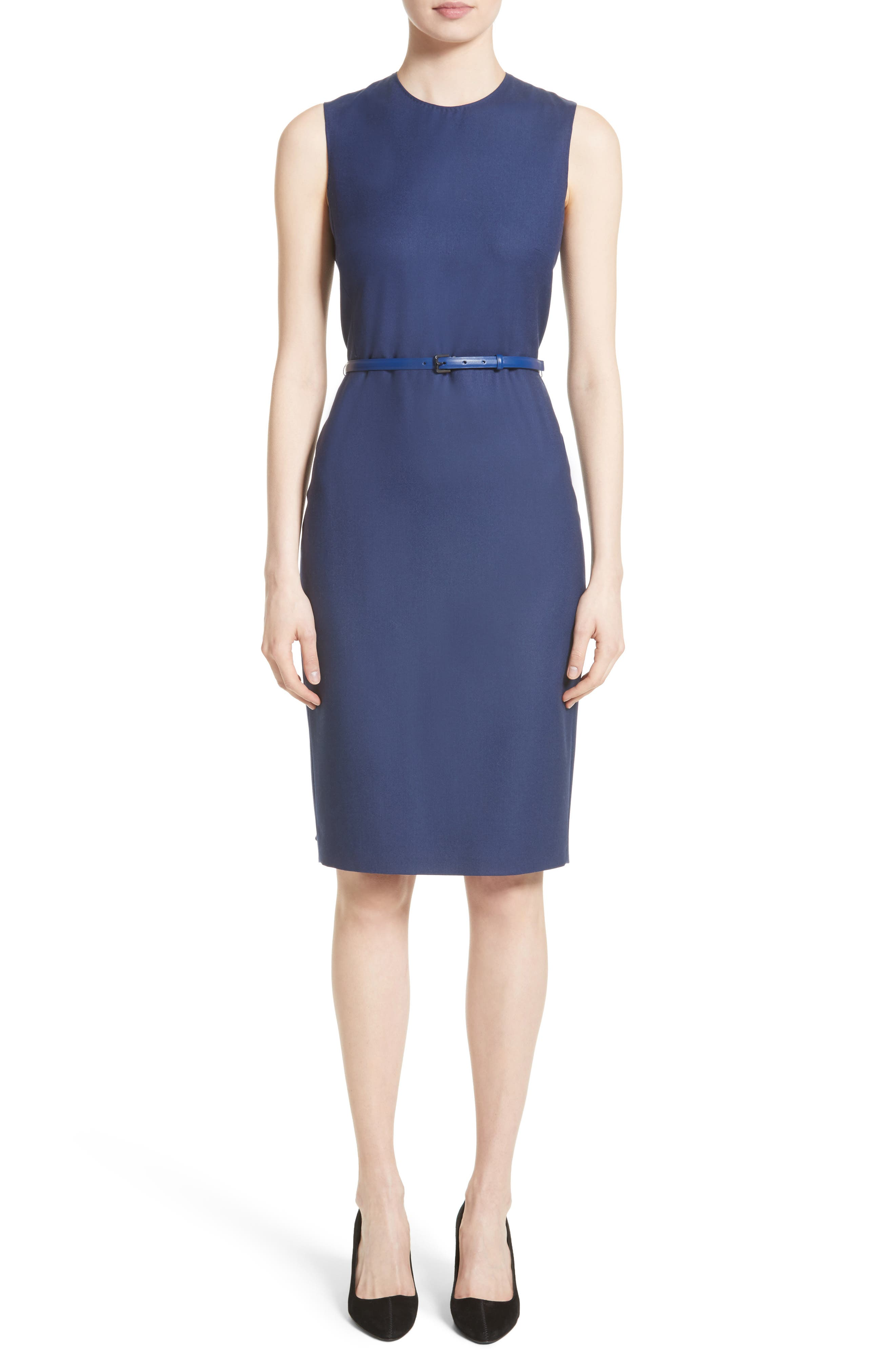 Glassa Sheath Dress,                         Main,                         color, Ultra Marine