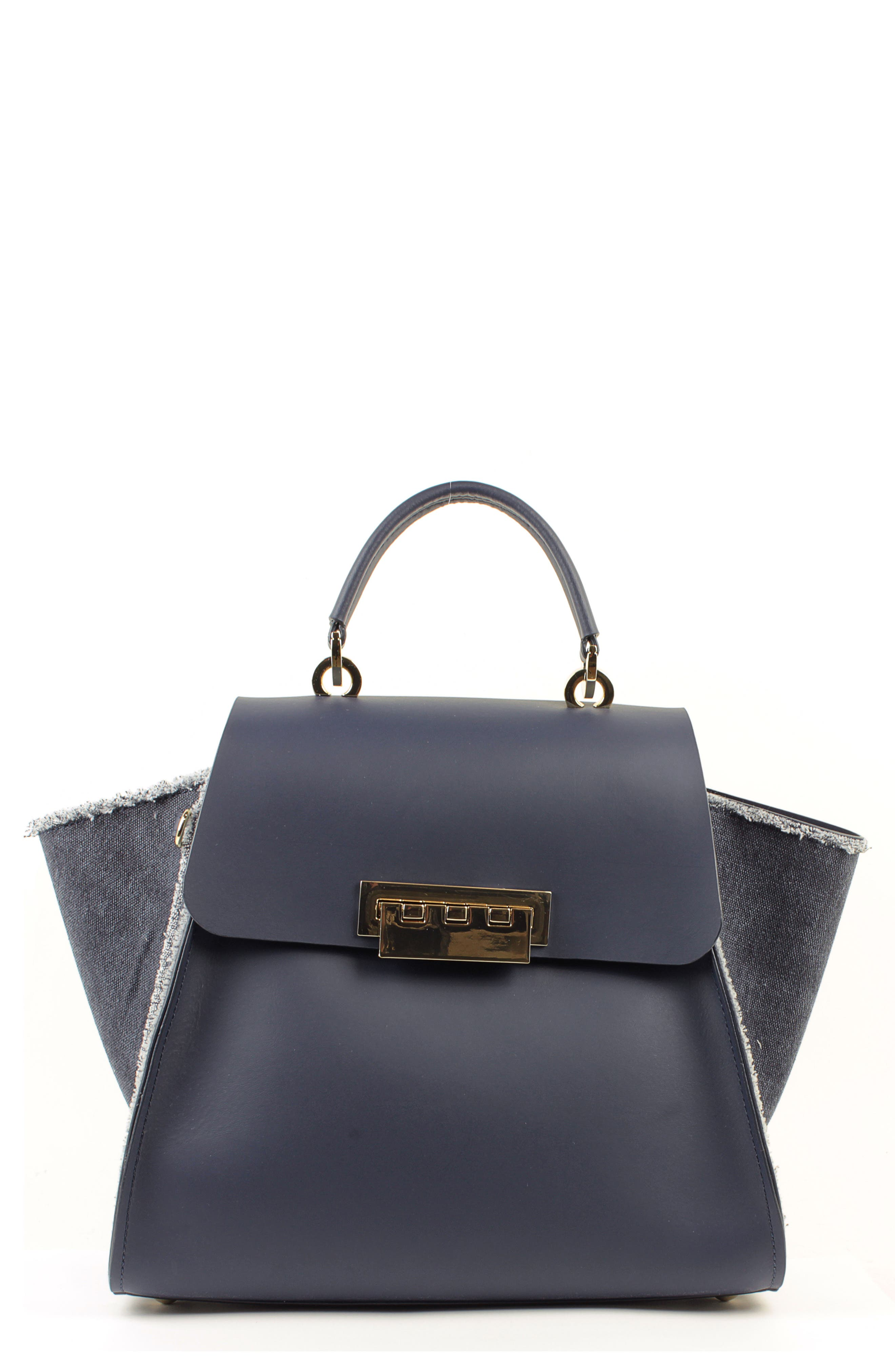 ZAC ZAC POSEN Eartha Iconic Leather Top Handle Satchel