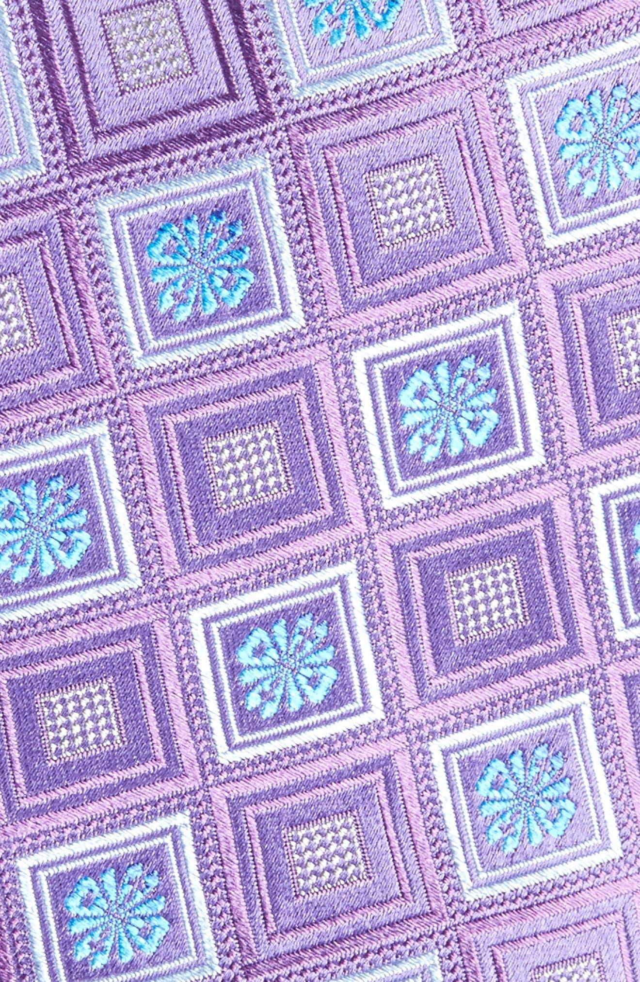 John W. Nordstrom Medallion Silk Tie,                             Alternate thumbnail 2, color,                             Purple