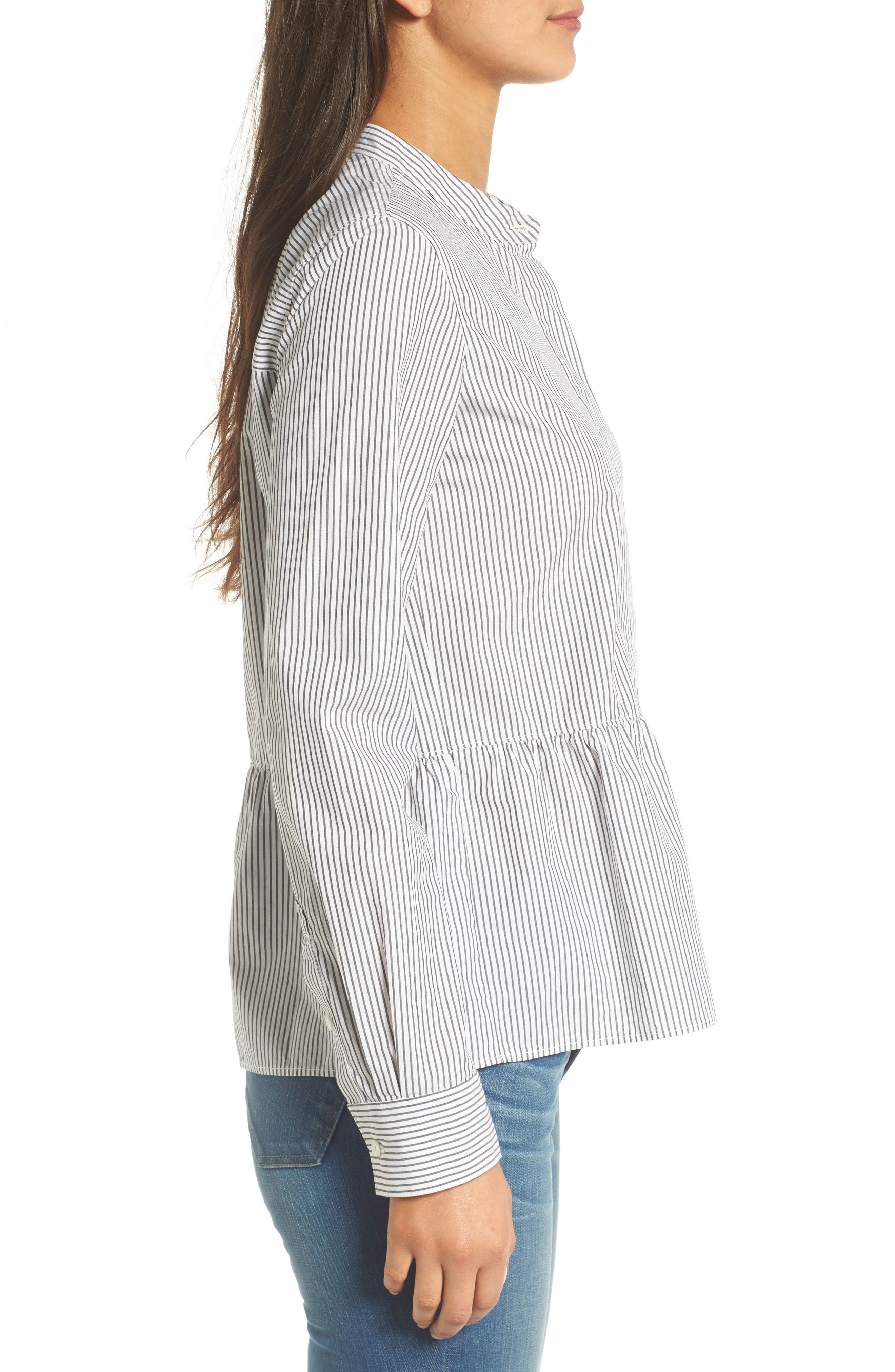 Alternate Image 4  - Madewell Peplum Shirt