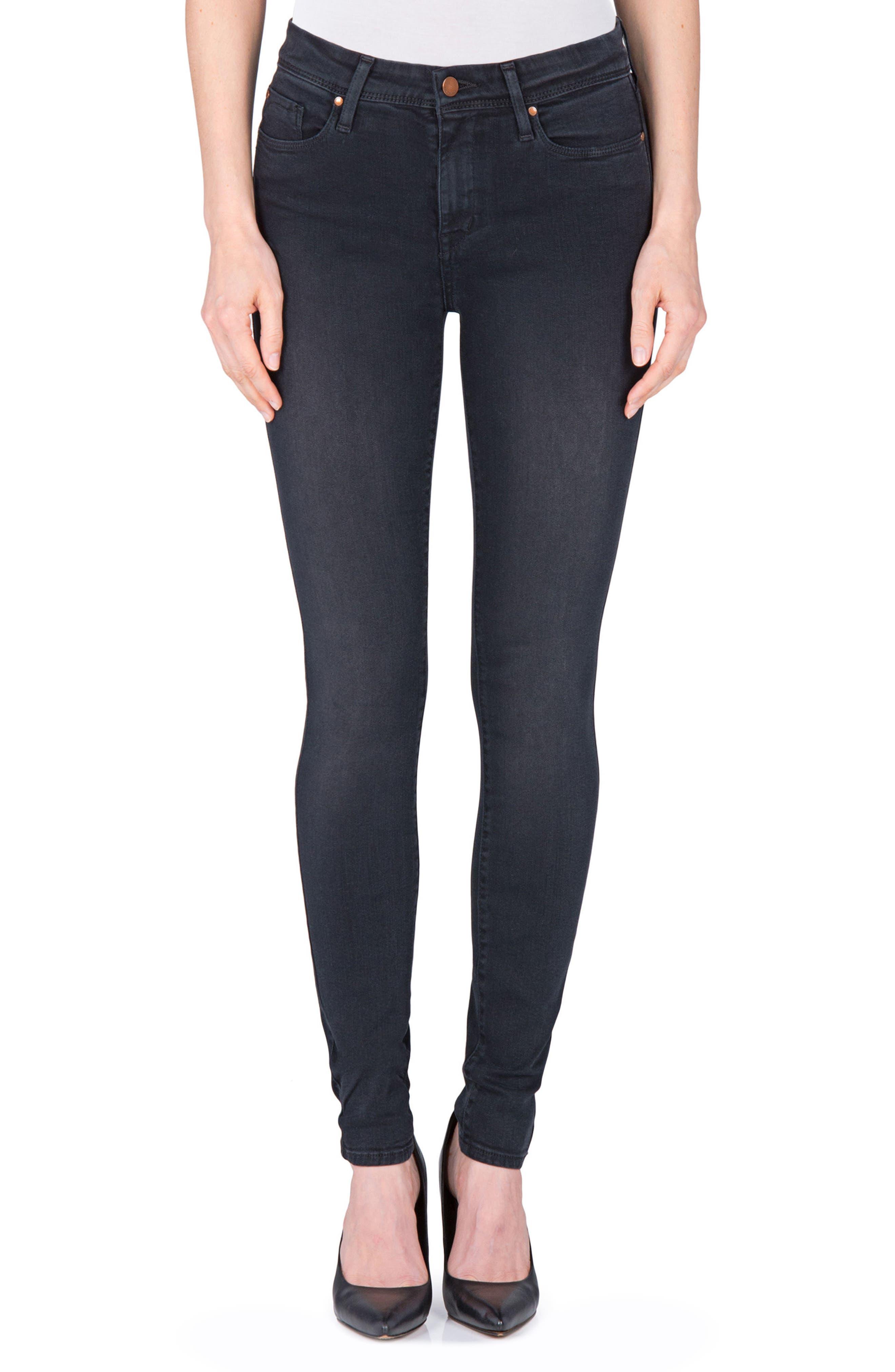 Main Image - Fidelity Denim Belvedere Skinny Jeans (Panther)