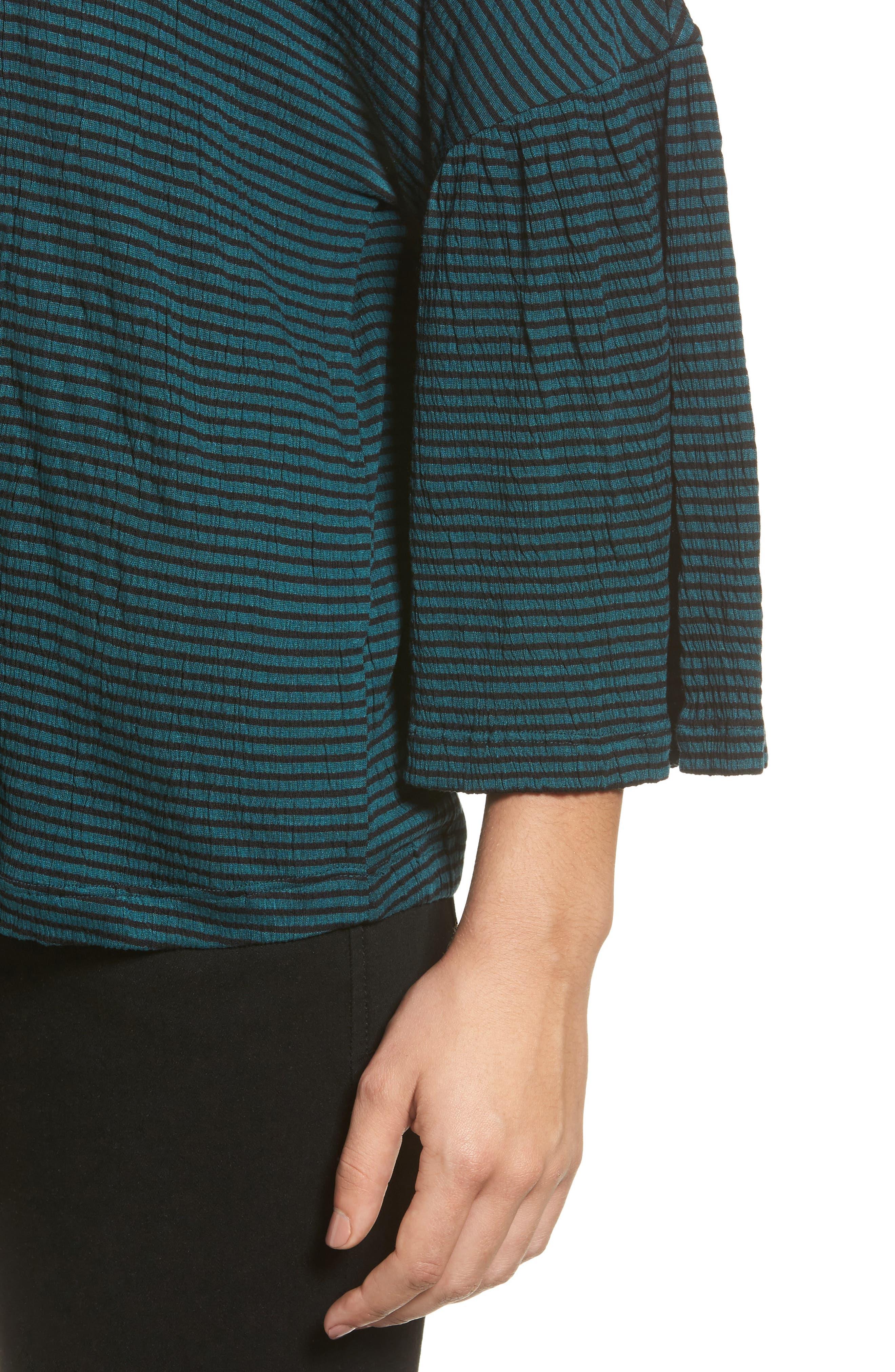 Alternate Image 4  - Caslon® Stripe Bell Sleeve Tee (Regular & Petite)