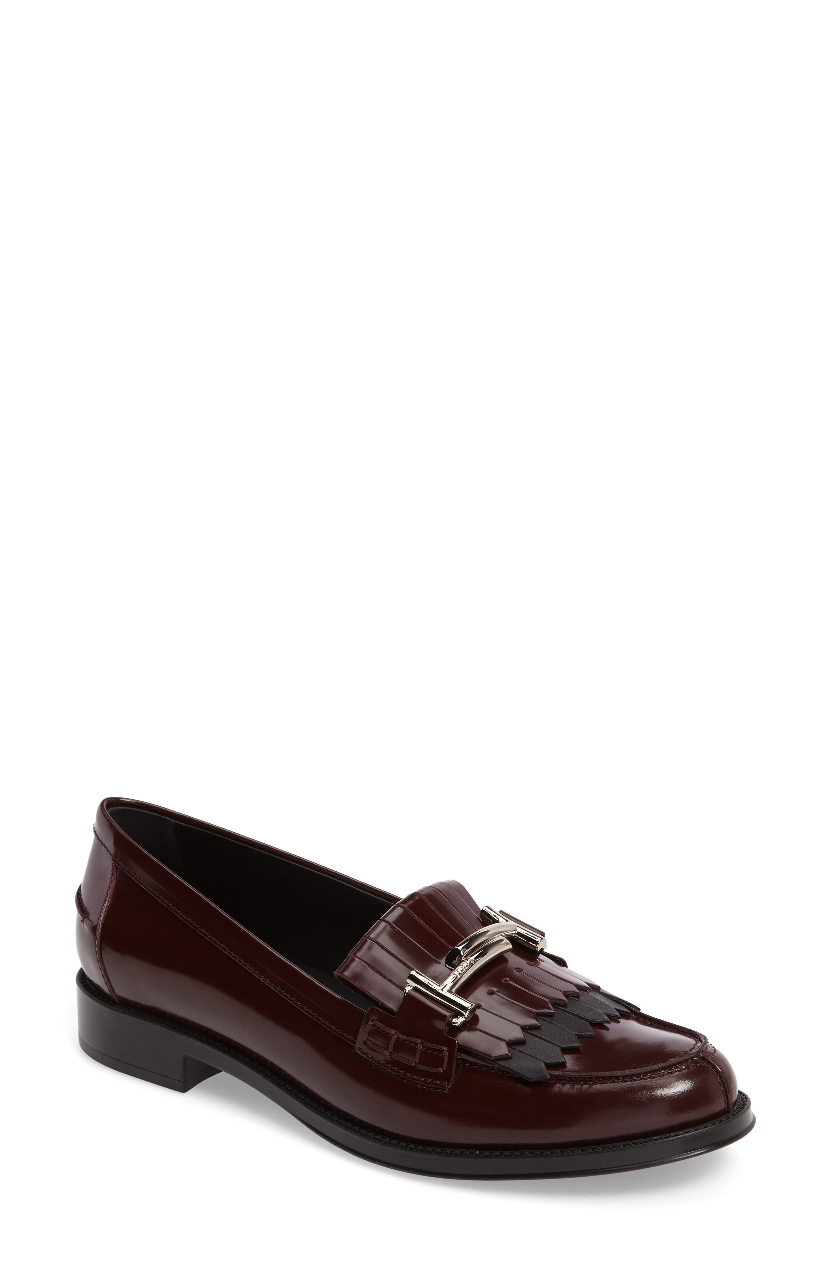 Tod's Double T Kiltie Fringe Loafer (Women)