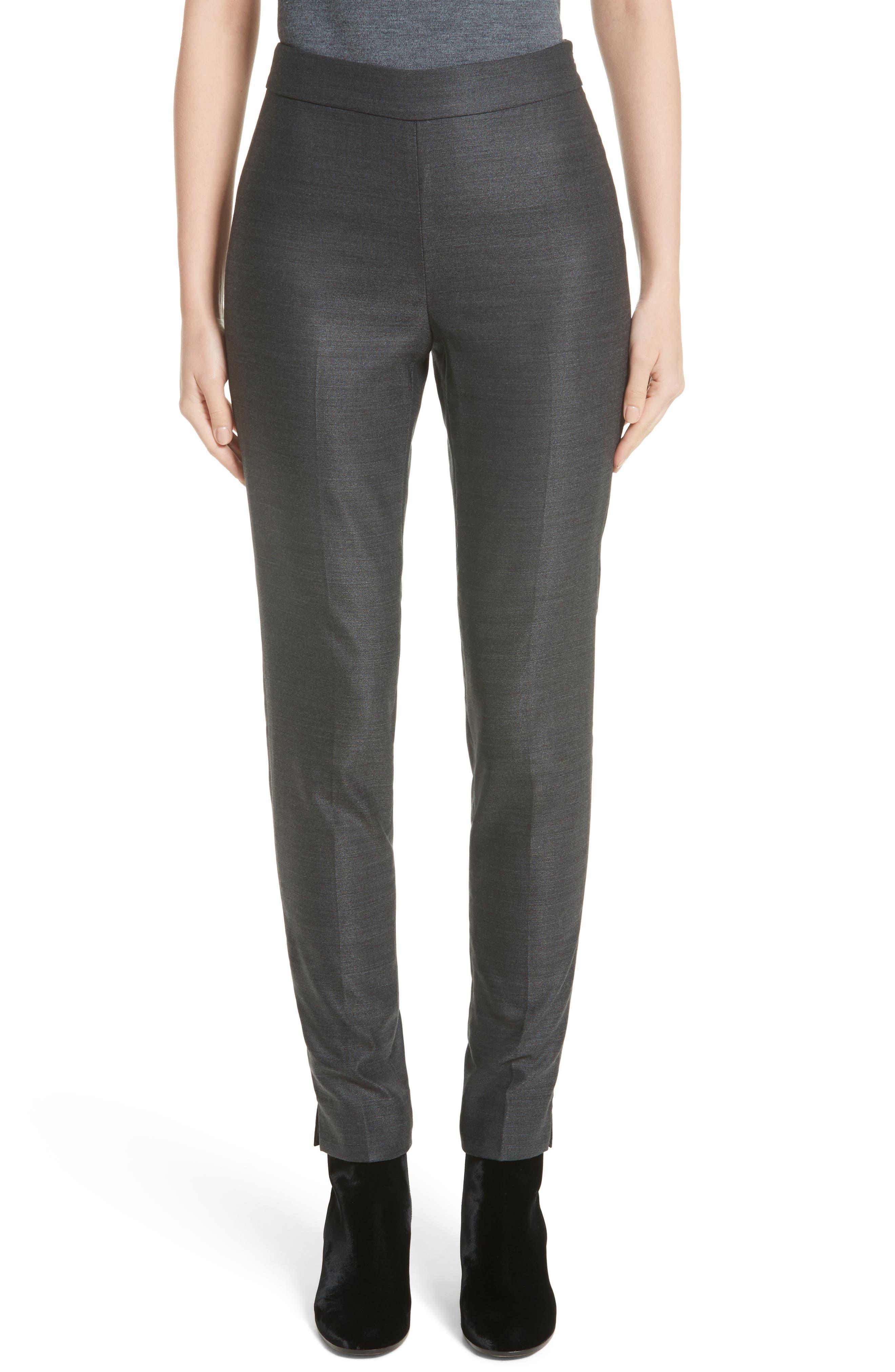 Stretch Birdseye Skinny Pants,                         Main,                         color, Medium Grey