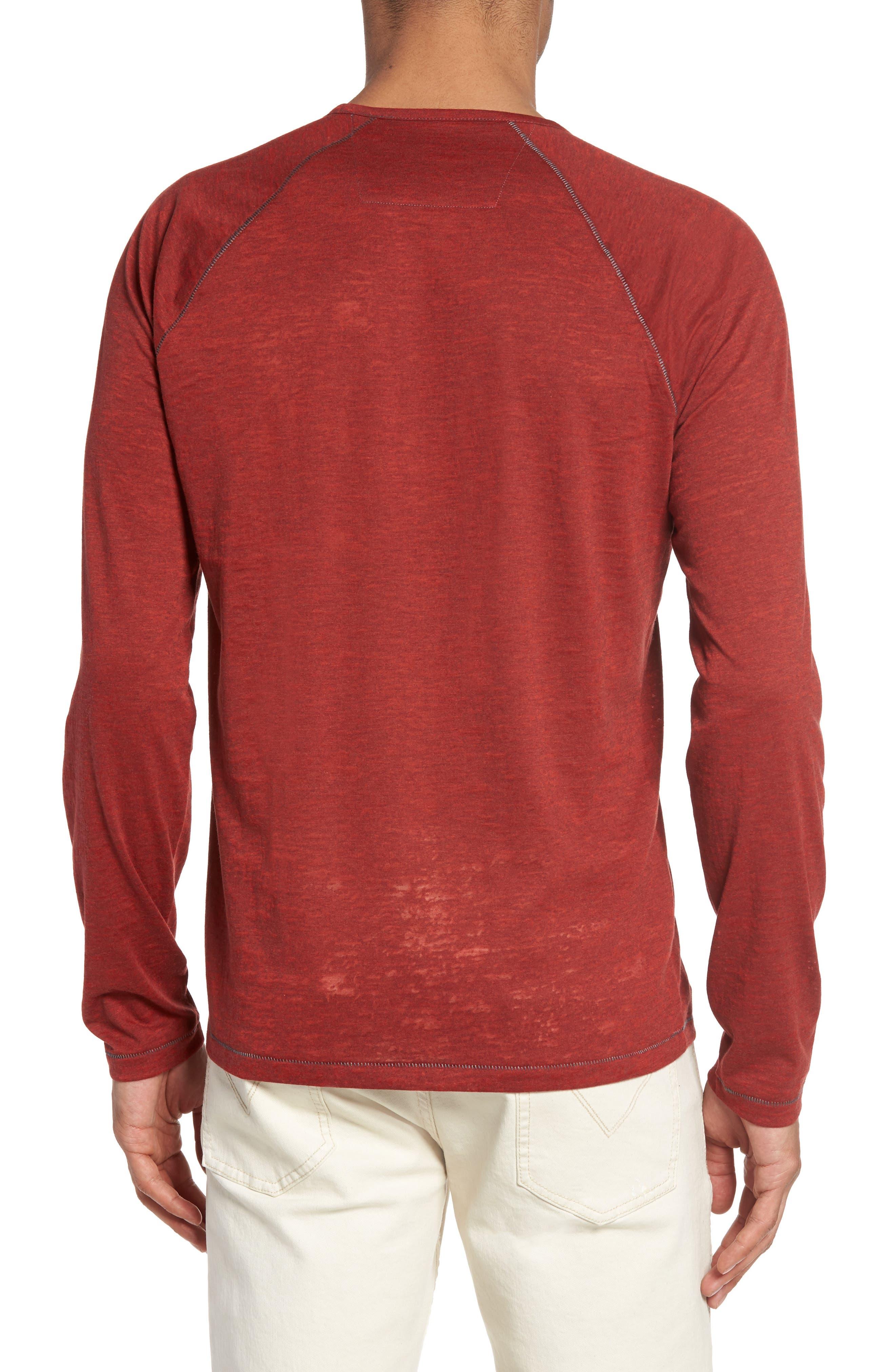 Raglan Sleeve T-Shirt,                             Alternate thumbnail 2, color,                             Tomato
