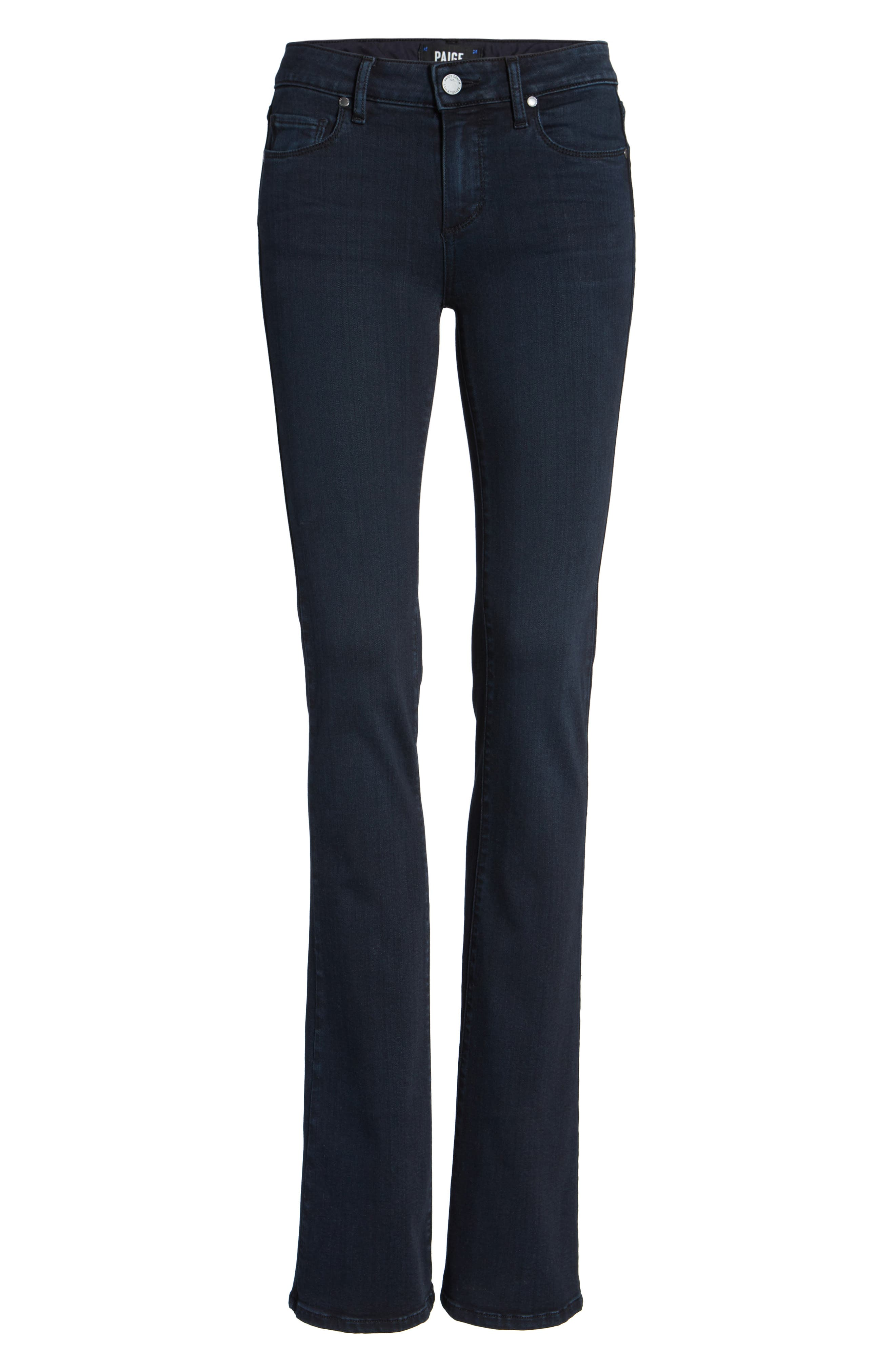 Alternate Image 6  - PAIGE Manhattan High Waist Bootcut Jeans (Brighton)