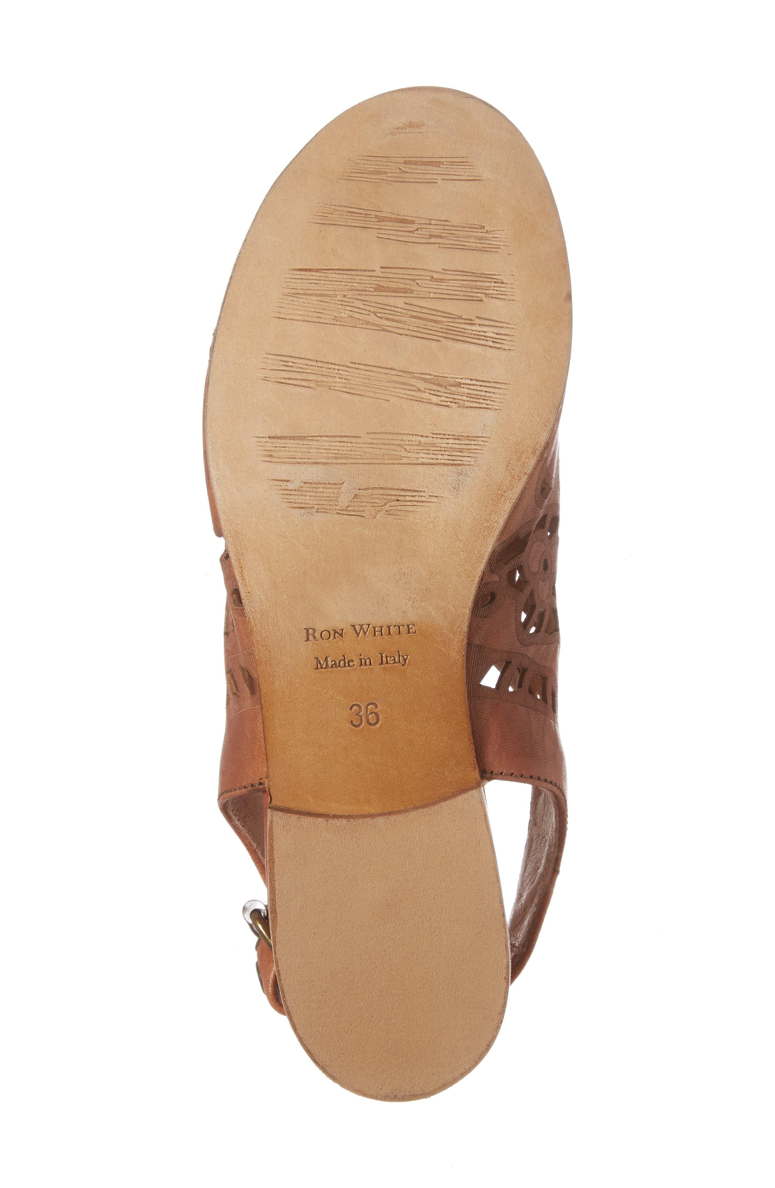 Ally Slingback Sandal,                             Alternate thumbnail 6, color,                             Cognac Leather