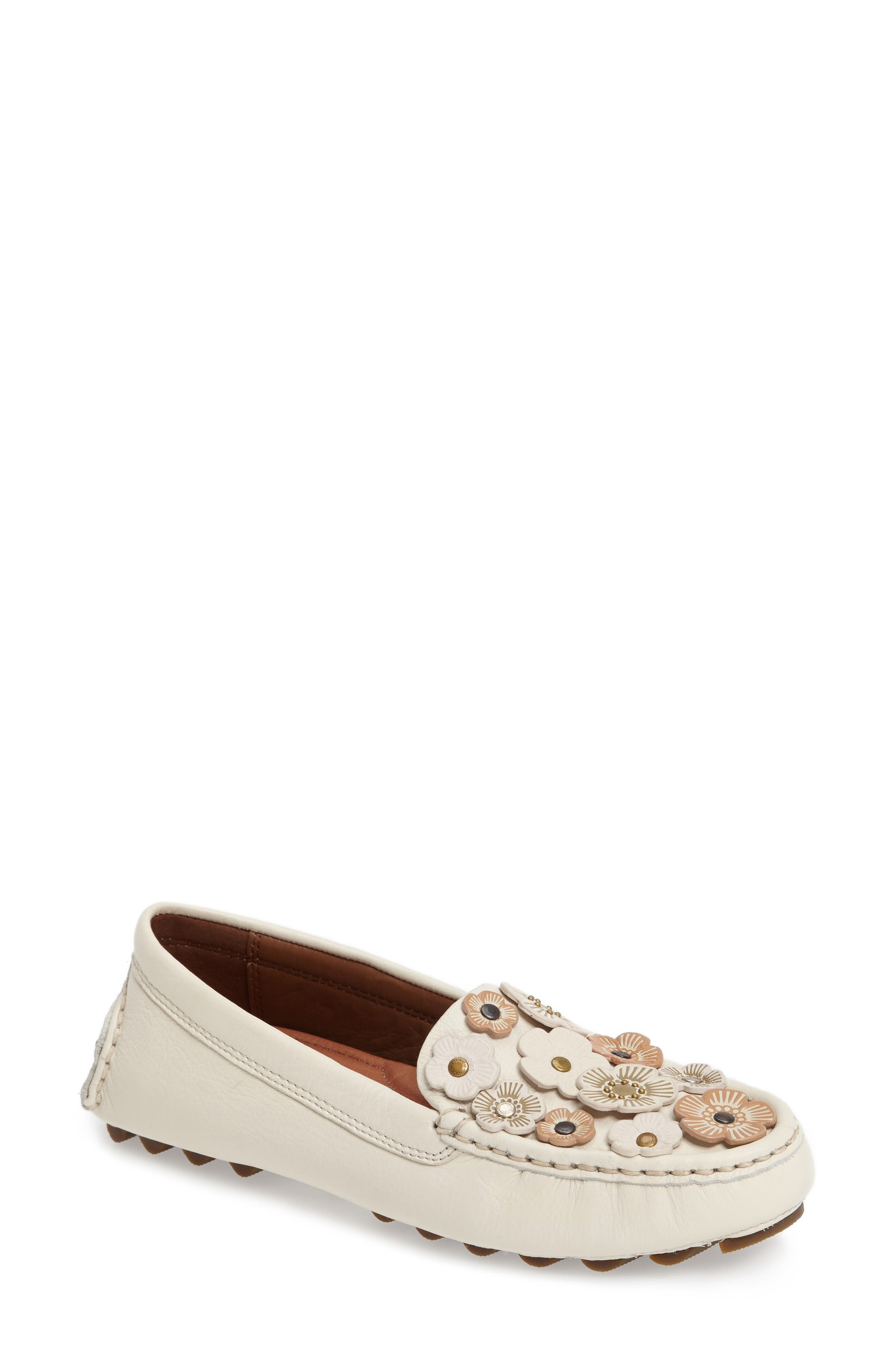 Alternate Image 1 Selected - COACH Tea Rose Driving Loafer (Women)