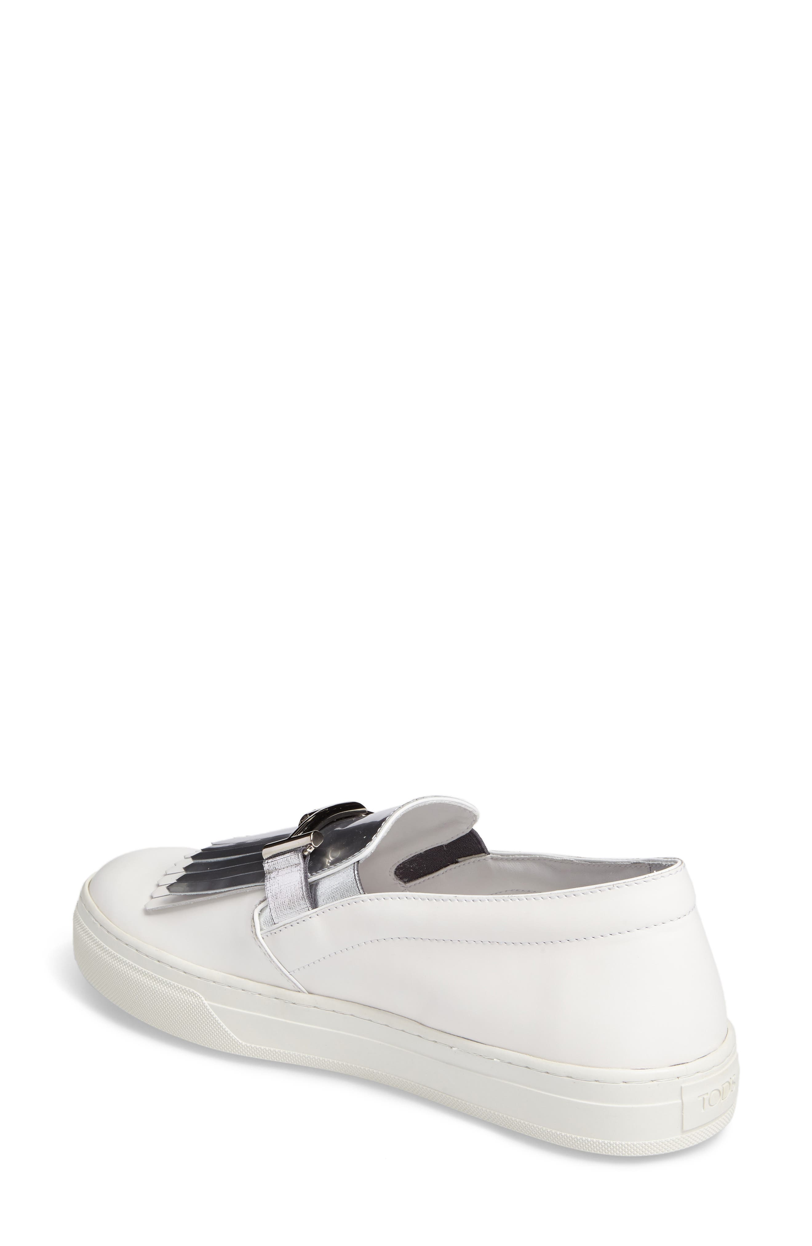 Alternate Image 2  - Tod's Double-T Kiltie Fringe Slip-On Sneaker (Women)
