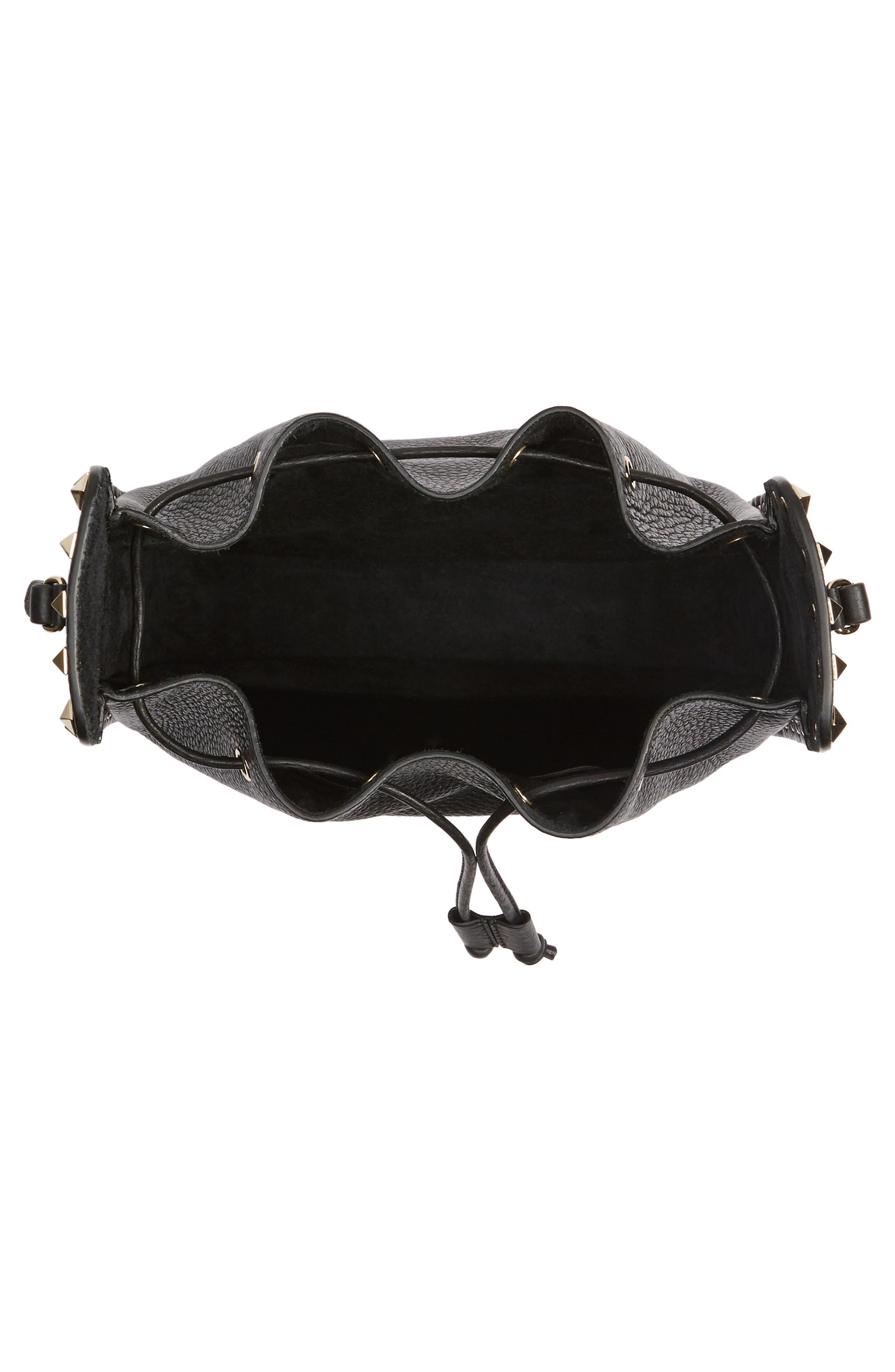 Alternate Image 4  - VALENTINO GARAVANI Large Rockstud Leather Bucket Bag