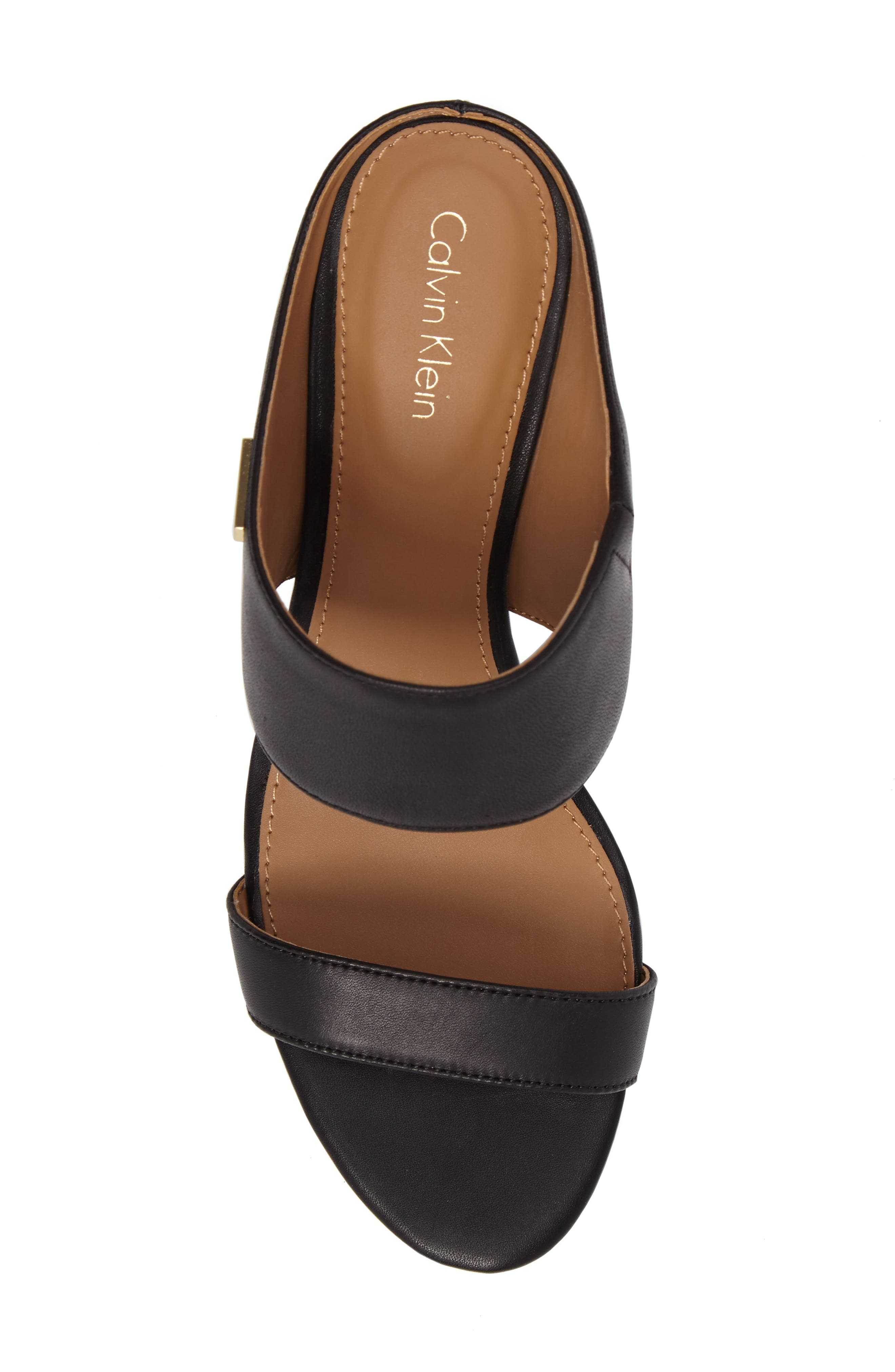 Phyllis Studded Wedge Sandal,                             Alternate thumbnail 5, color,                             Black Leather