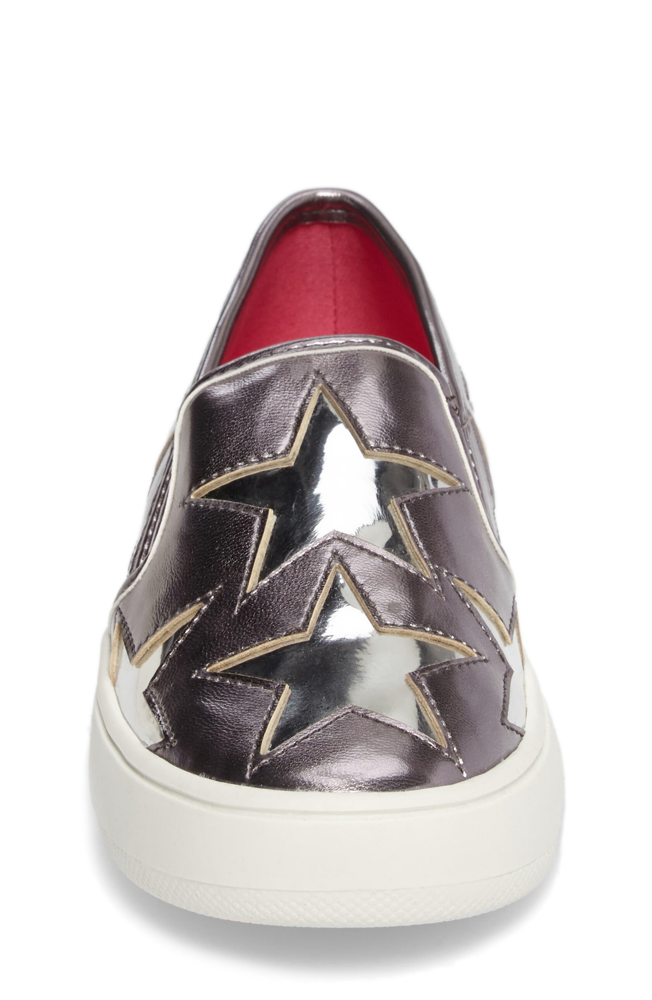 Famouse Star Slip-On Sneaker,                             Alternate thumbnail 4, color,                             Pewter