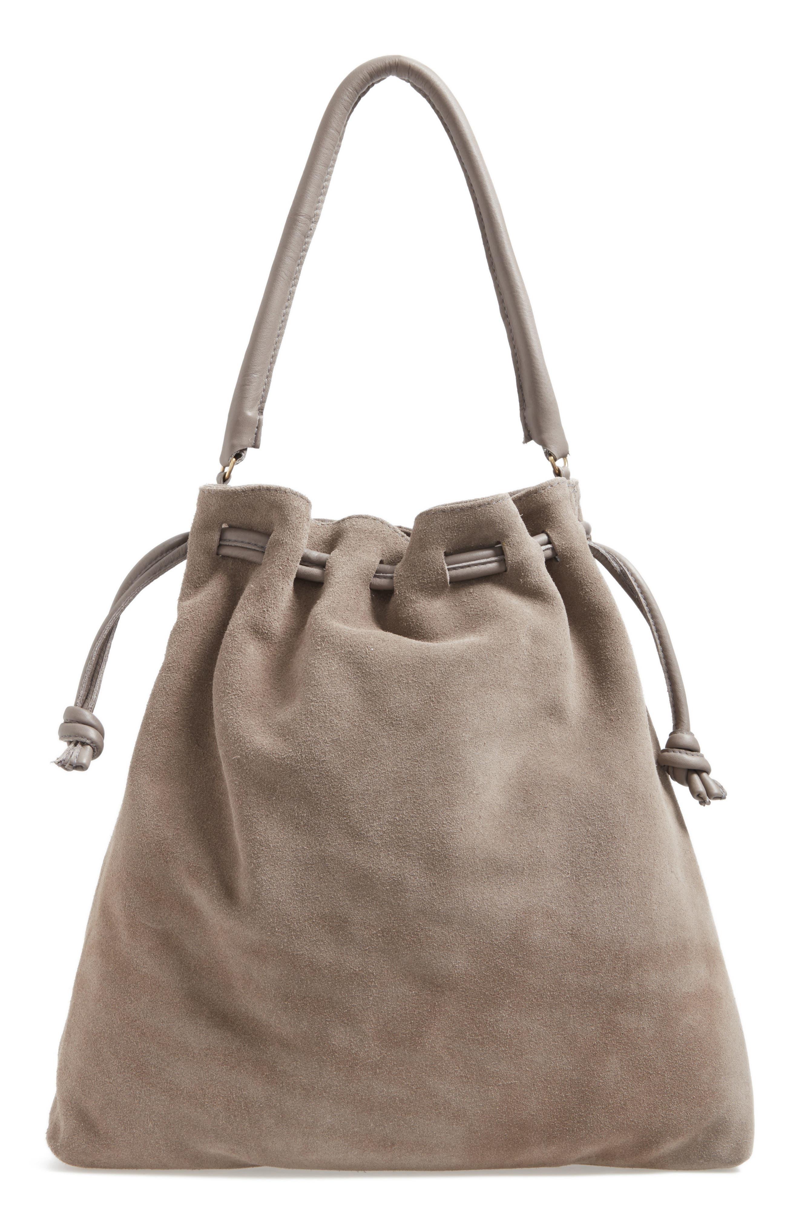 Henri Drawstring Shoulder Bag,                             Main thumbnail 1, color,                             Dark Grey