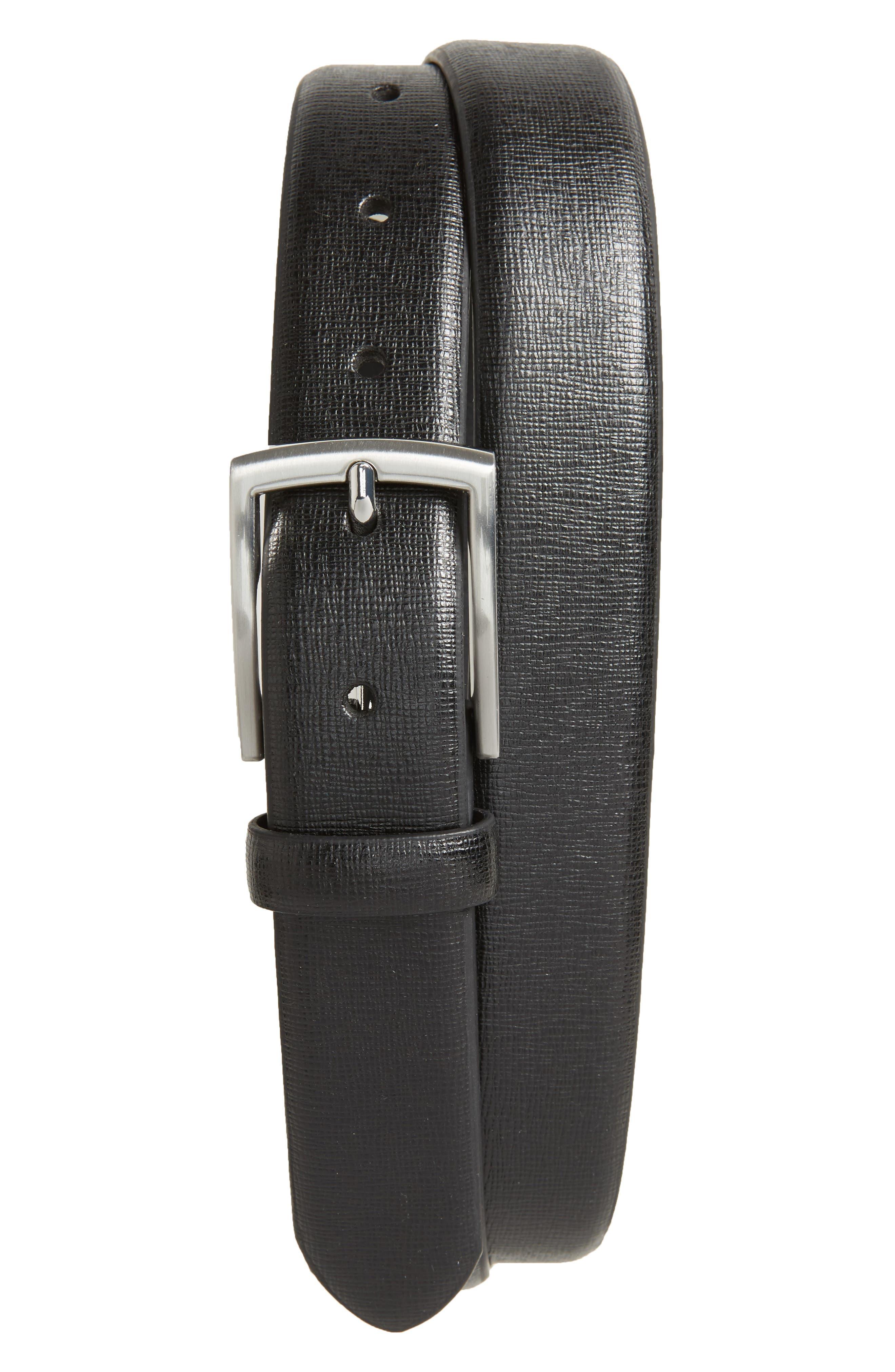 Main Image - Topman Glazed Leather Belt