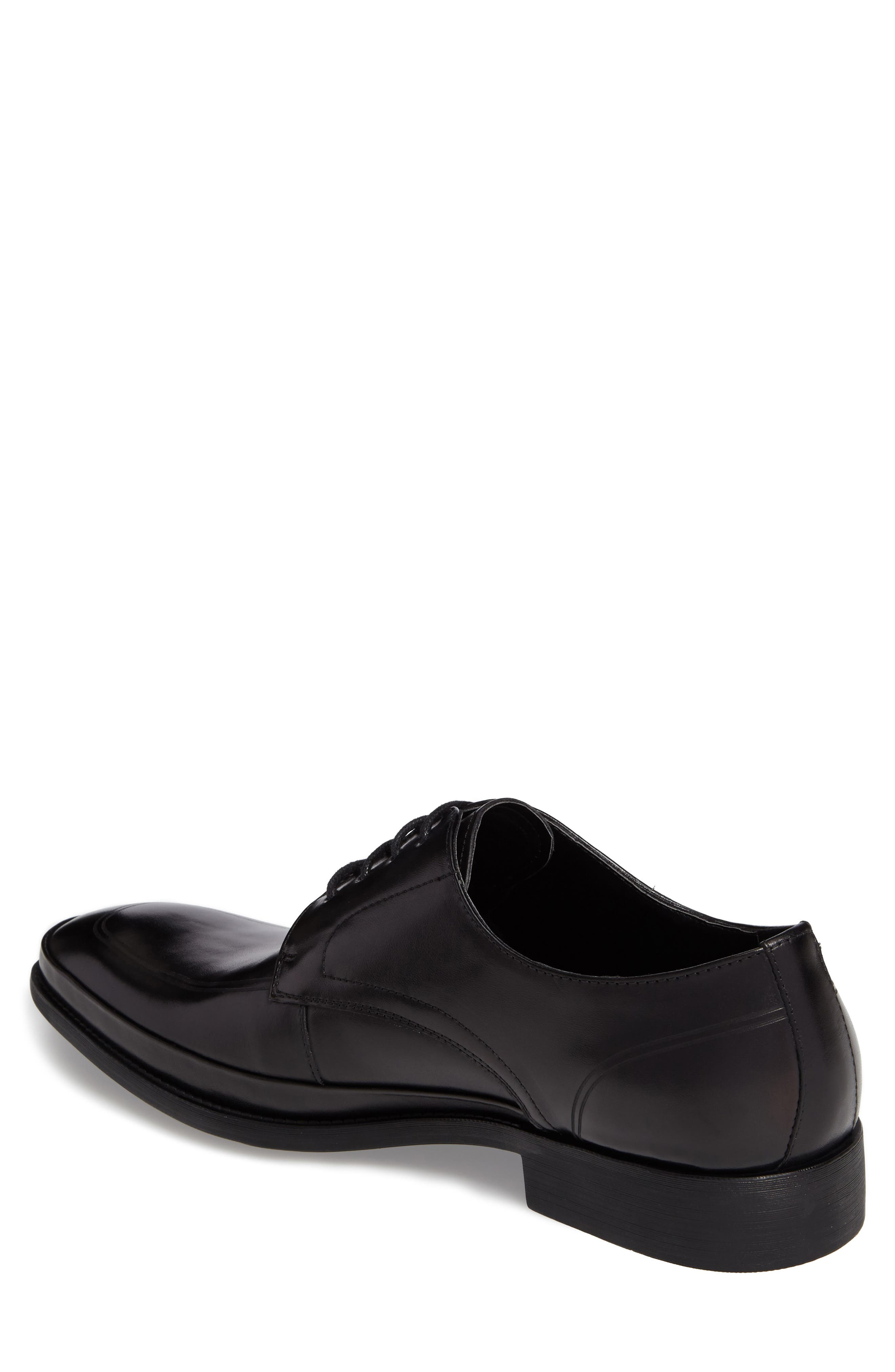 Brick Free Plain Toe Derby,                             Alternate thumbnail 2, color,                             Black Leather