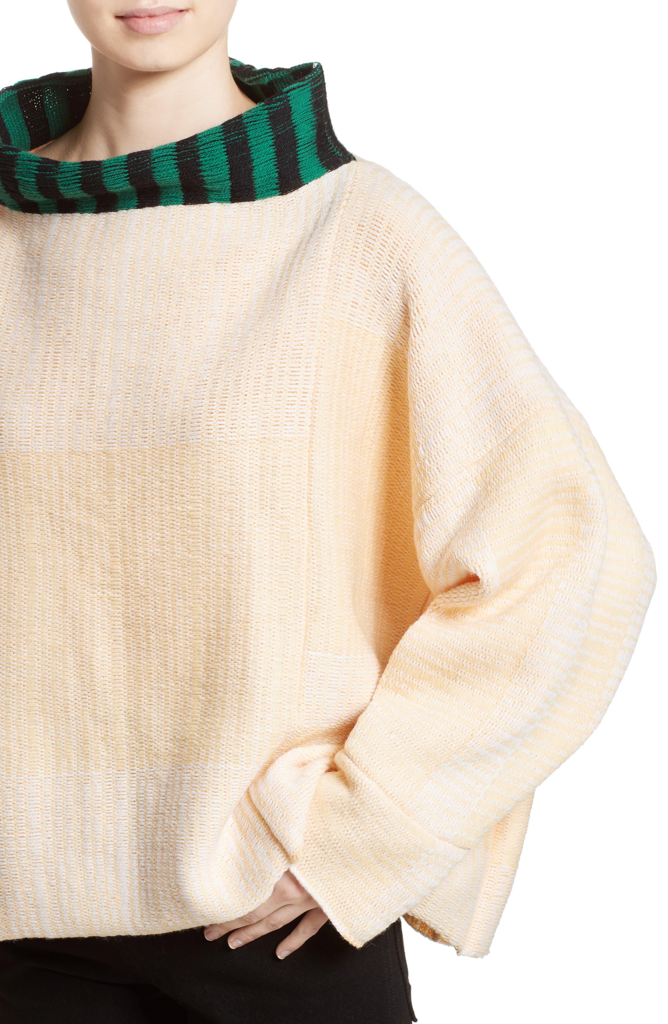 Vented Dolman Sweater,                             Alternate thumbnail 6, color,                             Chamois