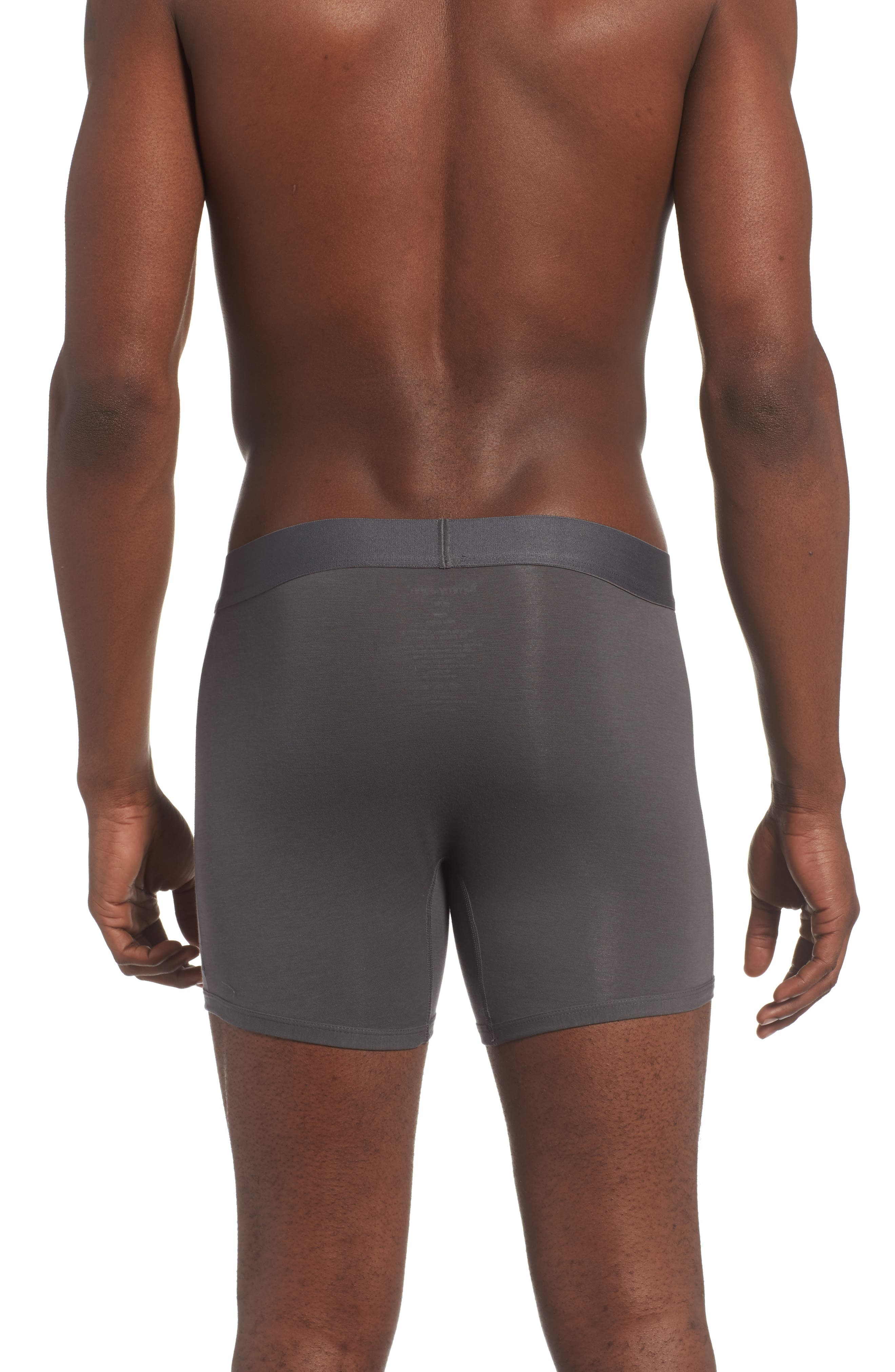 Cool Cotton Trunks,                             Alternate thumbnail 2, color,                             Iron Grey