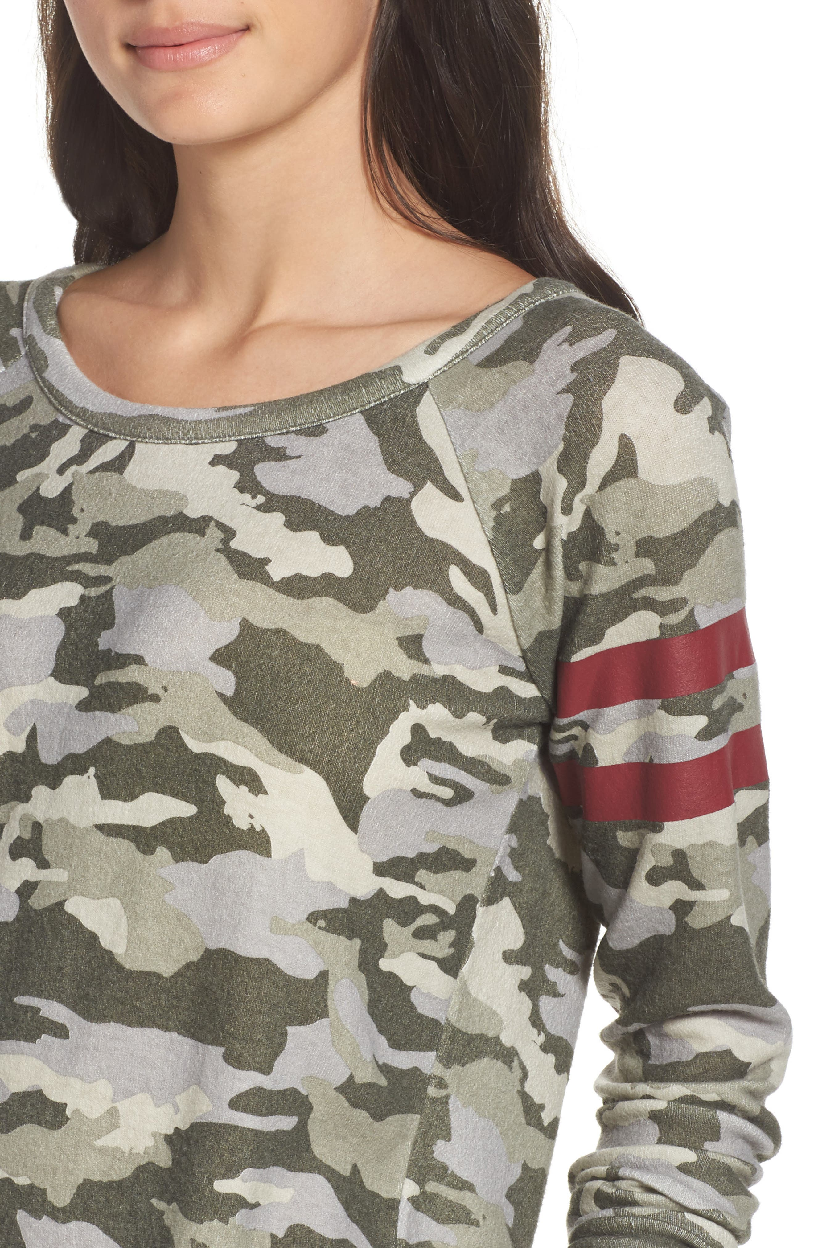 Camo Lounge Sweatshirt,                             Alternate thumbnail 6, color,                             Camo