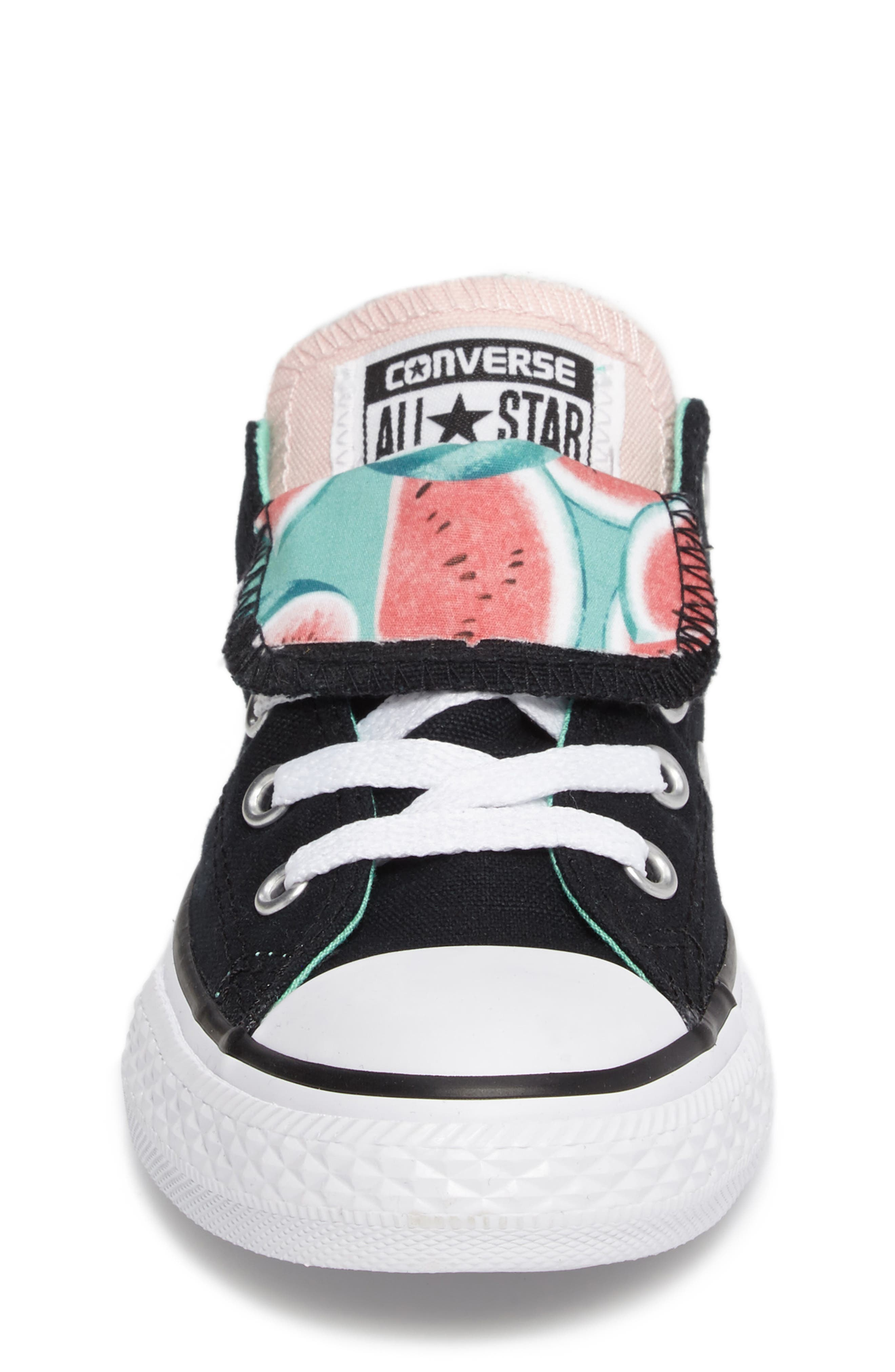 Chuck Taylor<sup>®</sup> All Star<sup>®</sup> Watermelon Print Sneaker,                             Alternate thumbnail 4, color,                             Black