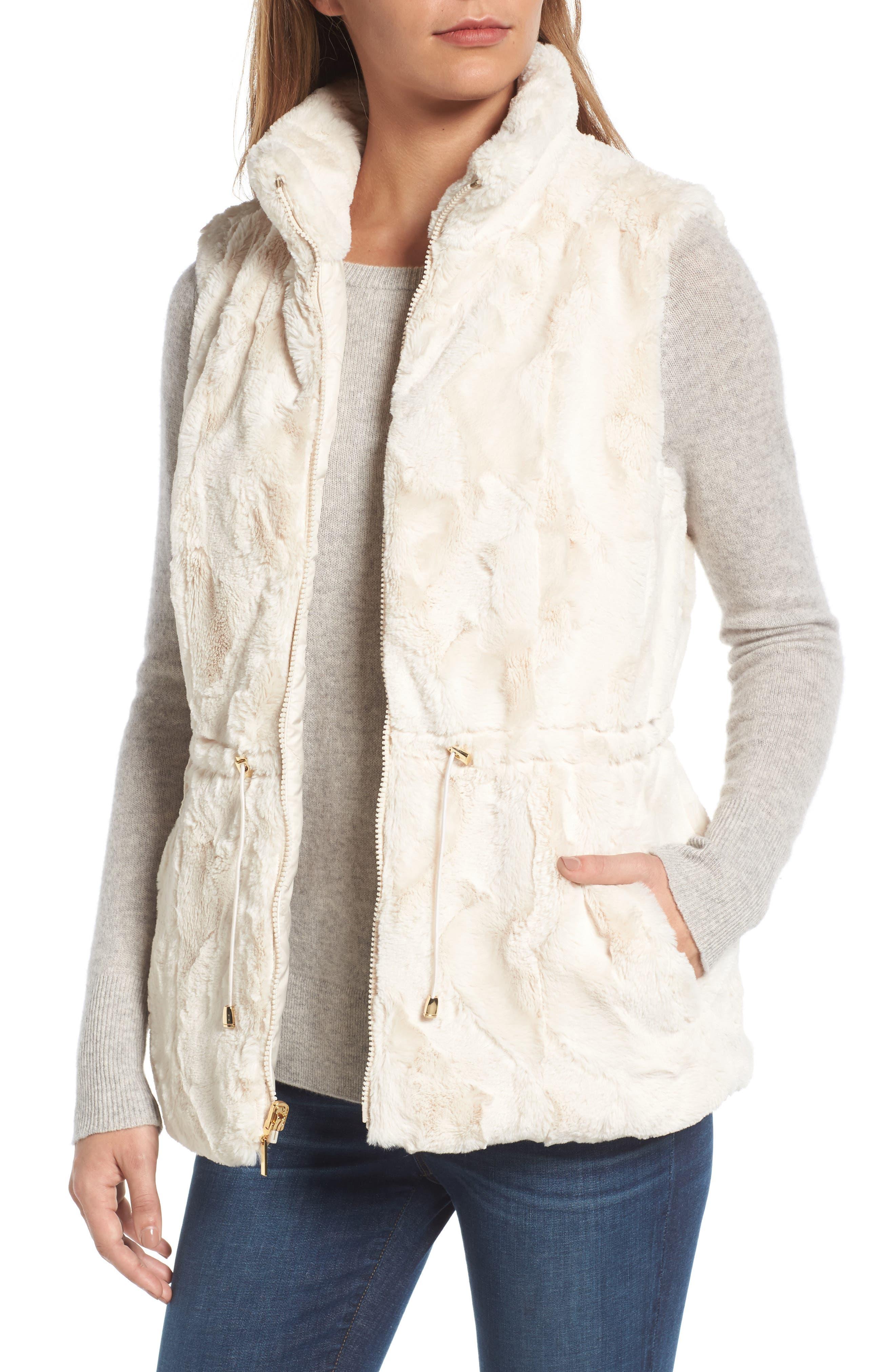 Alternate Image 4  - Gallery Reversible Faux Fur Vest