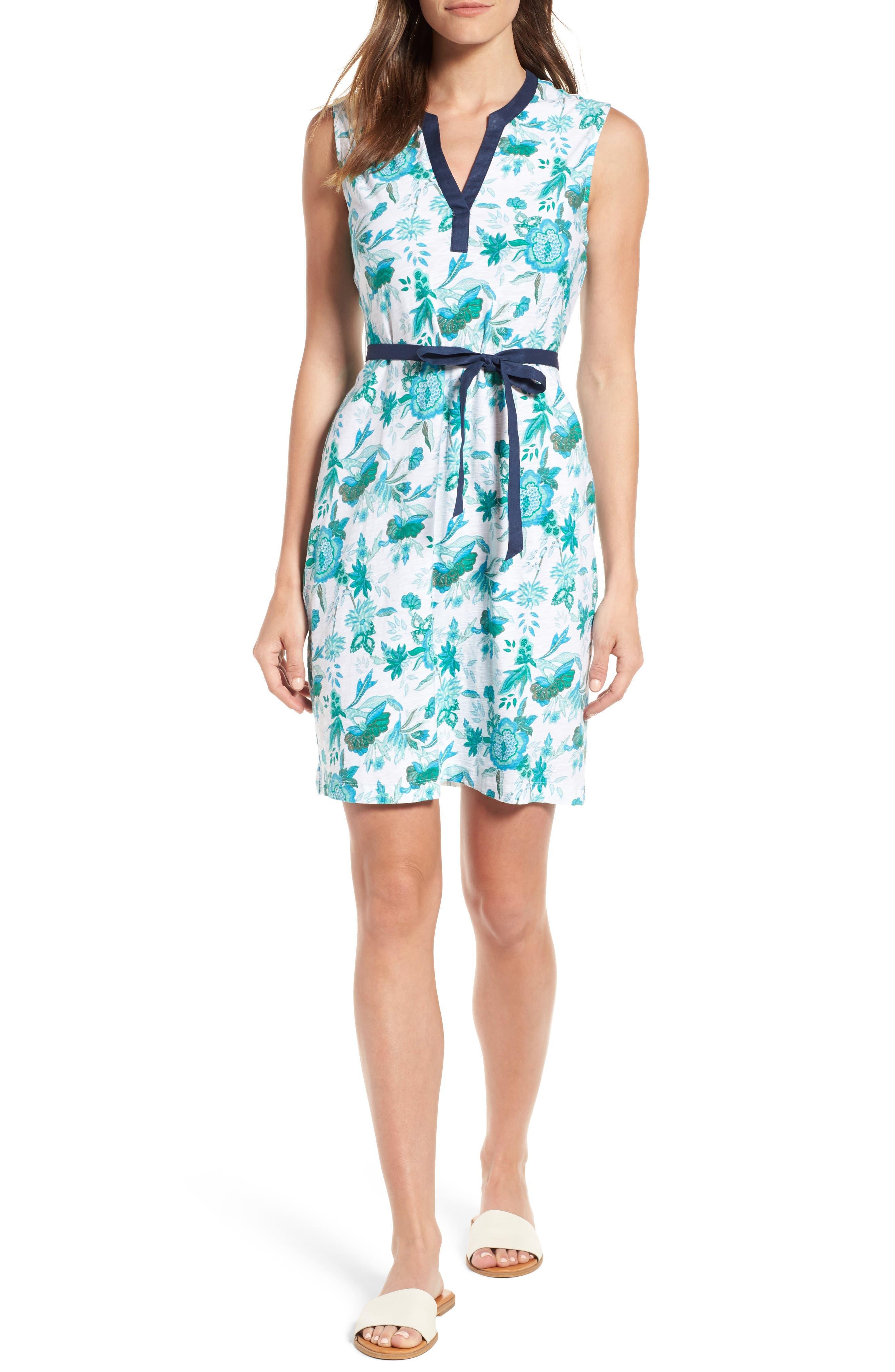 Naxos Blooms Short Jersey Dress,                         Main,                         color, Jadeite