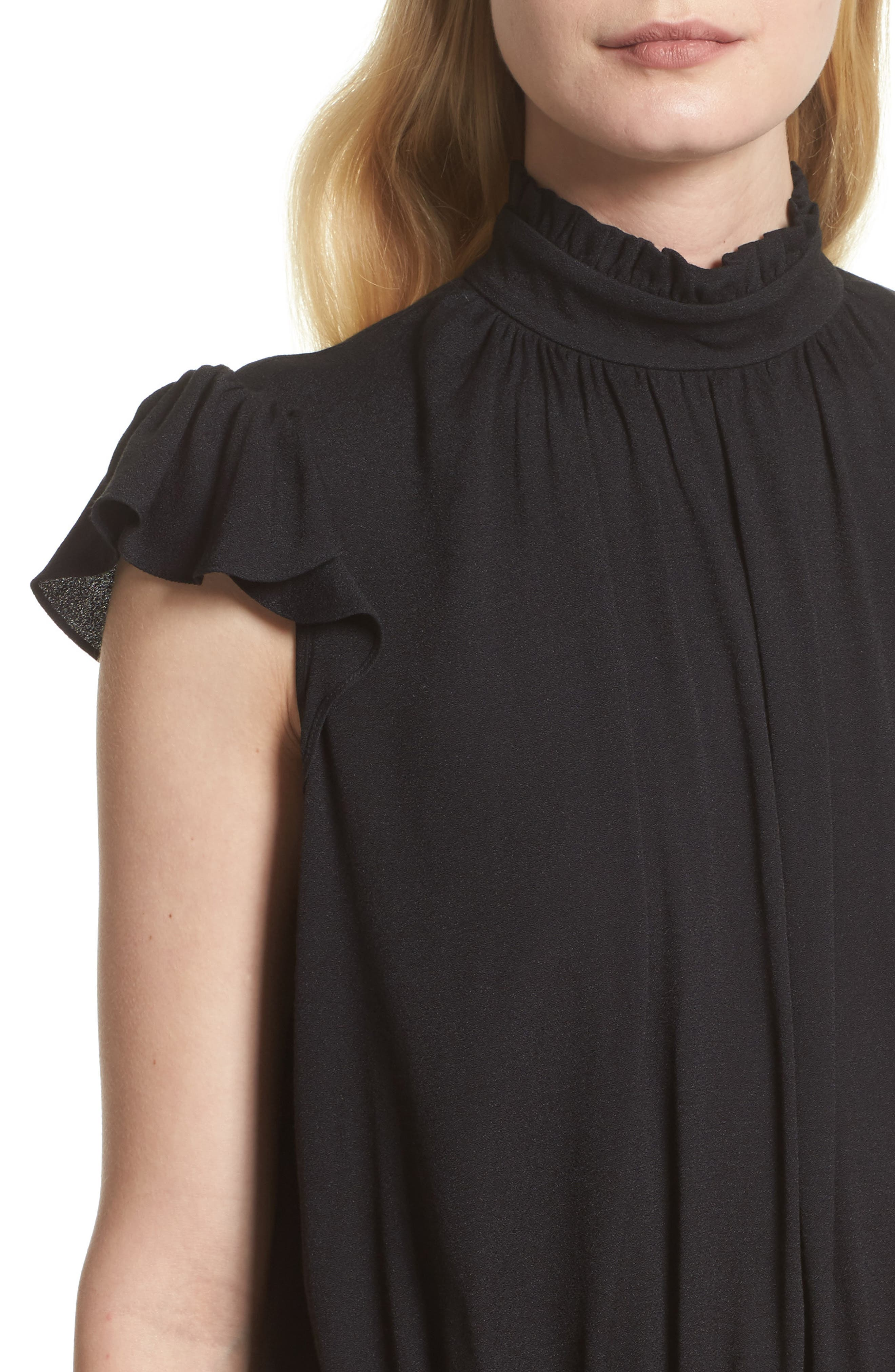 Alternate Image 5  - FRAME Smocked Ruffle Blouse (Nordstrom Exclusive)